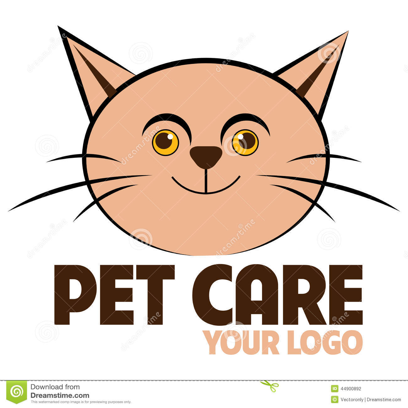Stock Illustration Pet Care Logo Cute Cat Image44900892 on Veterinary Clinic Design