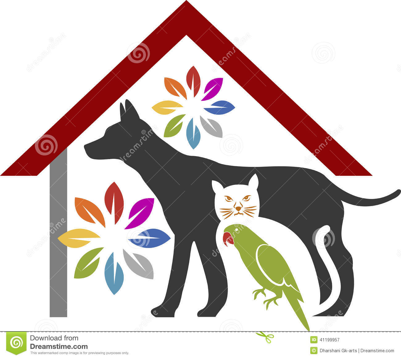 Pet Care Logo Stock Vector Image Of Head Background