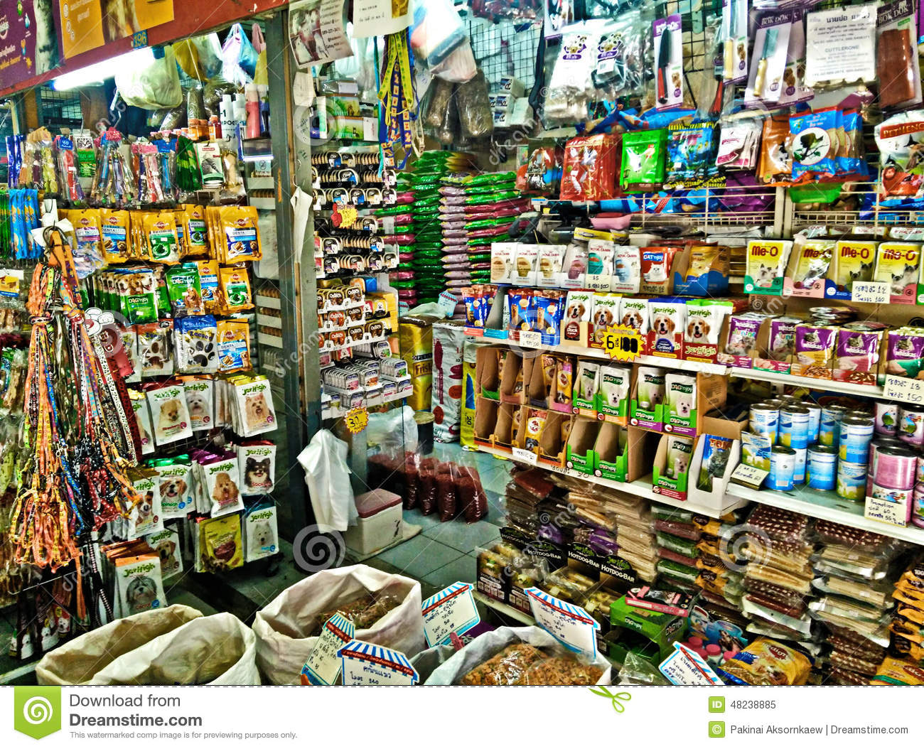 Pet food shop in china town bangkok editorial image for Shopping in cina