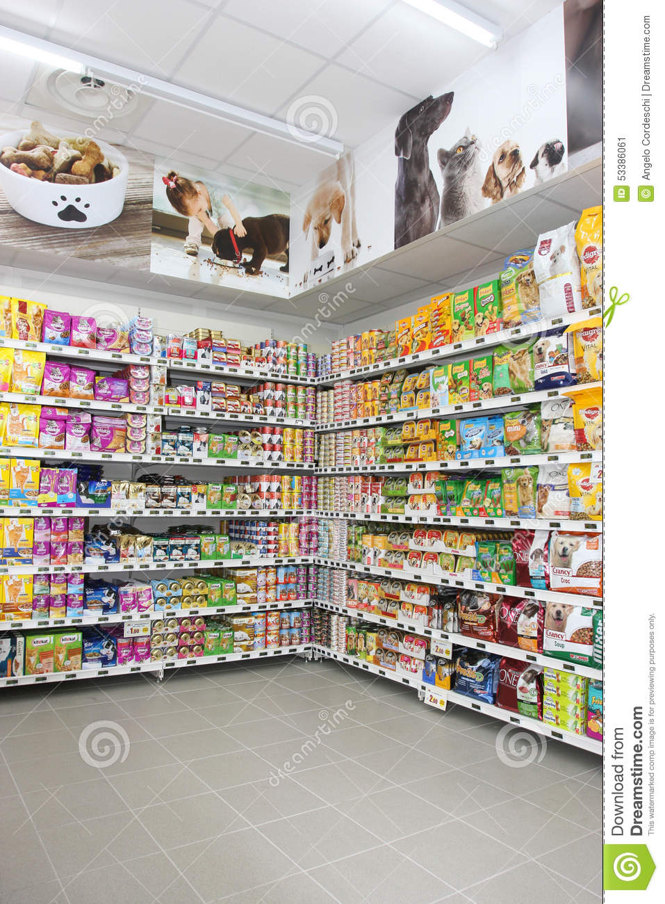 Pet Food Store Shelving Shelf Unit Editorial Photo