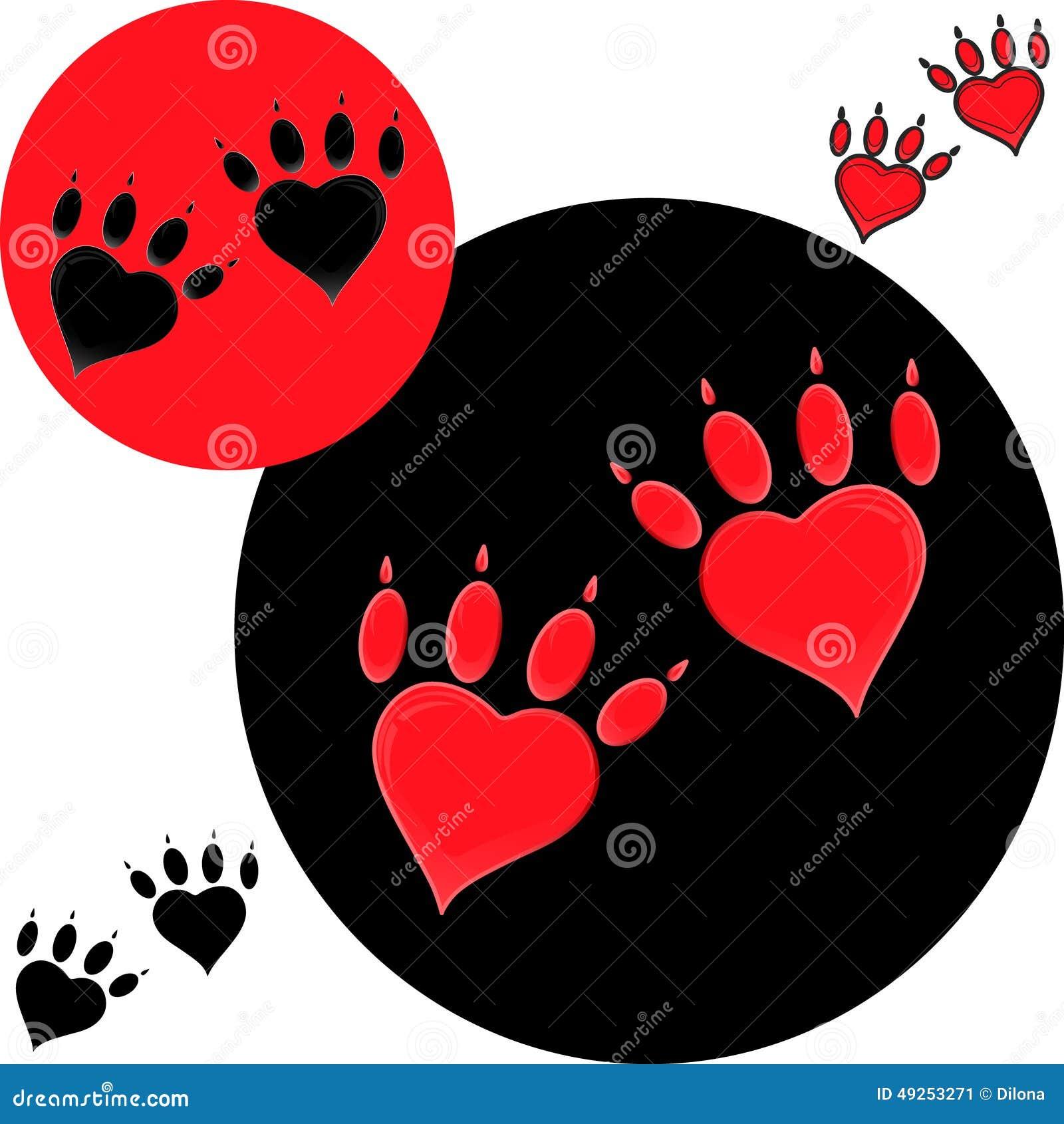 Red dog paw logo - photo#22