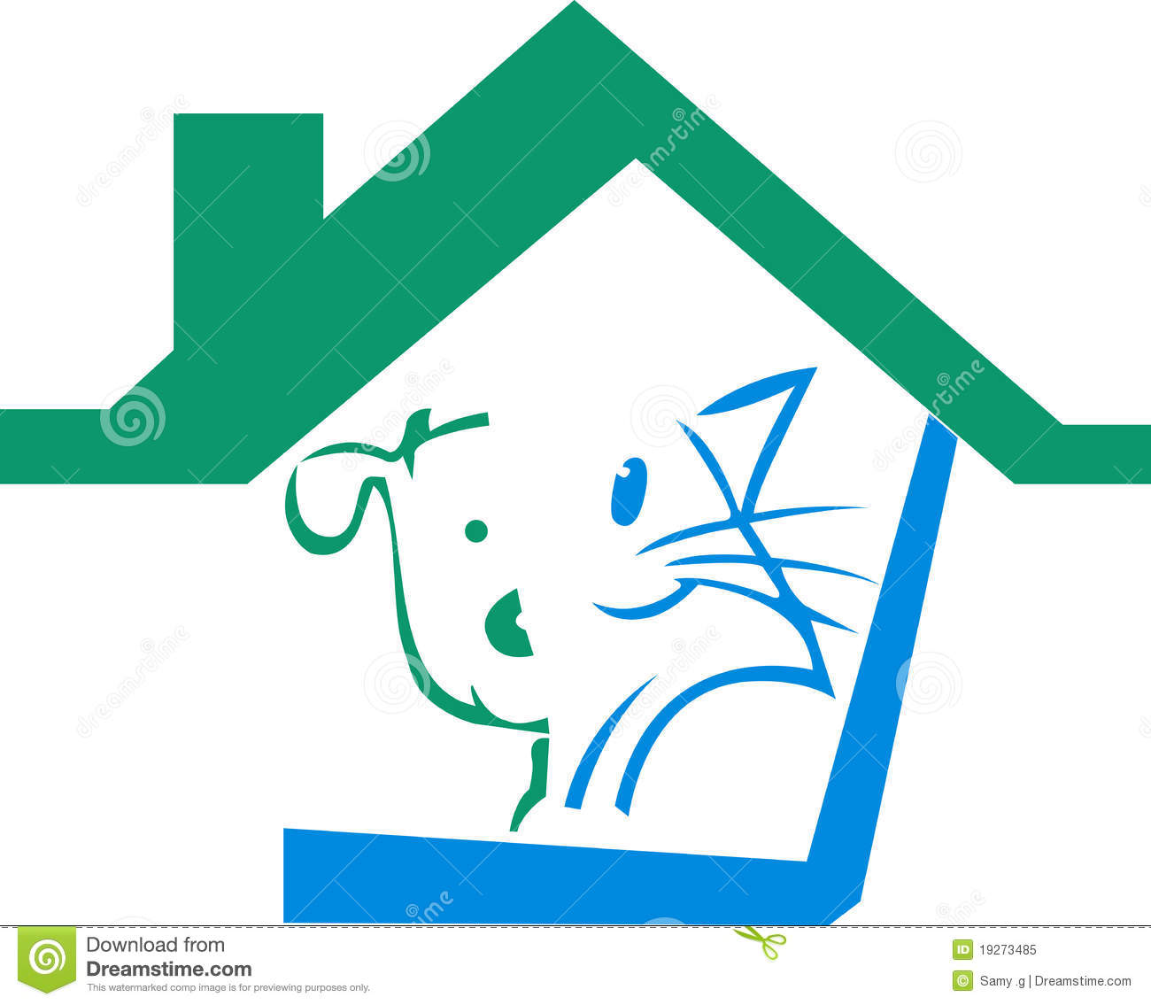pet home logo stock vector image of logo wild draw