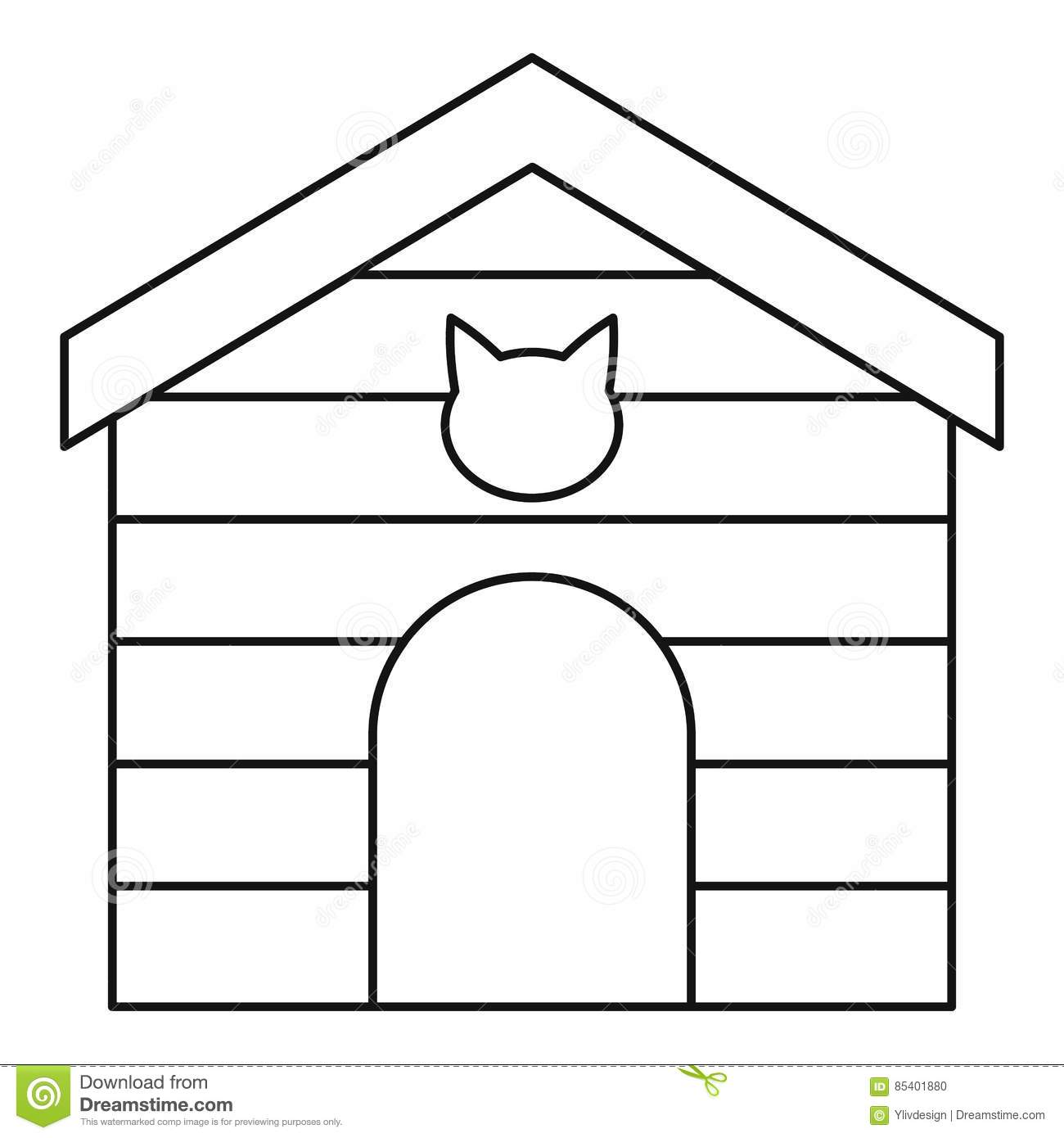 House outline picture - House Icon Outline