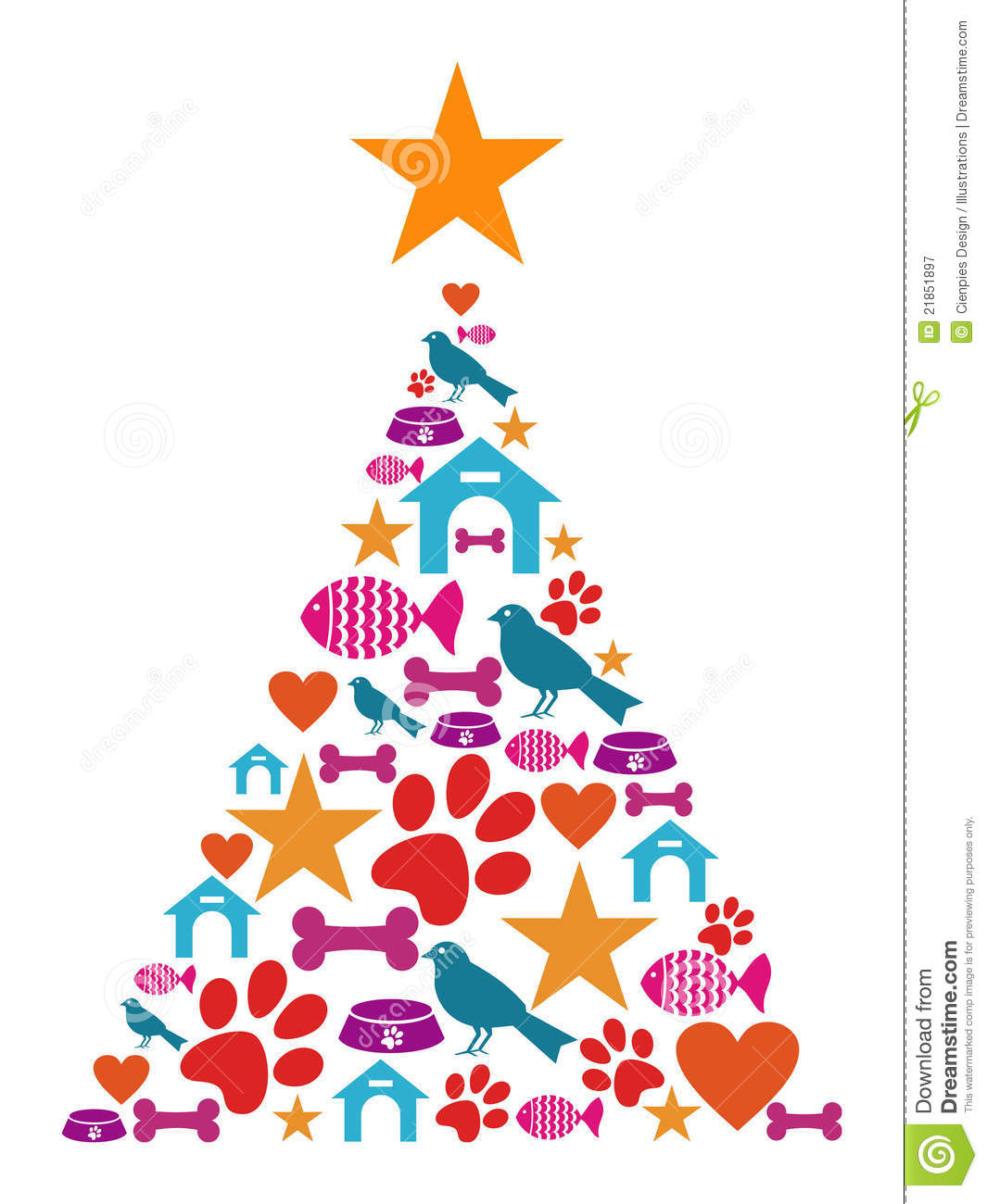 More similar stock images of ` Pet icons Christmas tree `