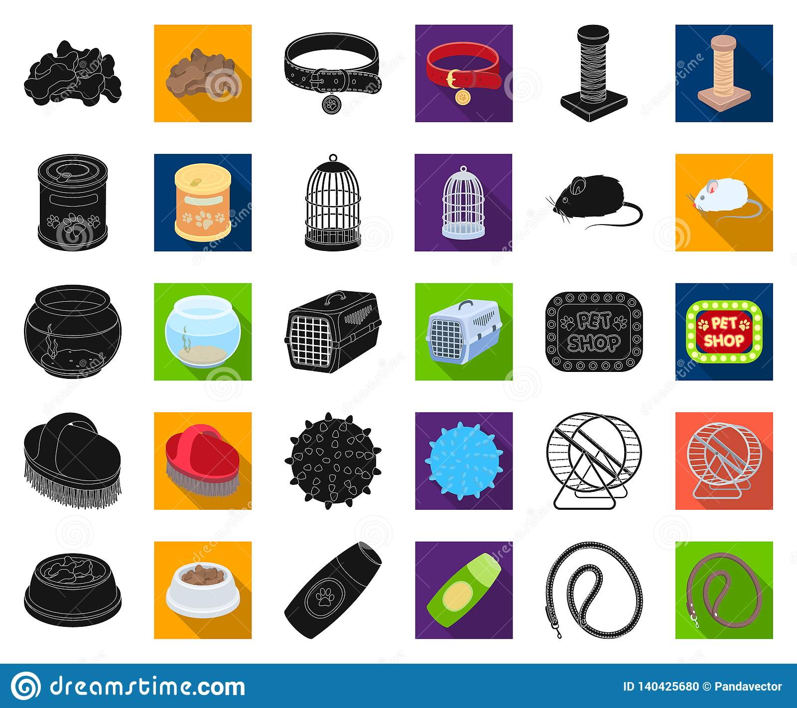 Pet shop black,flat icons in set collection for design.The goods for animals vector symbol stock web illustration.