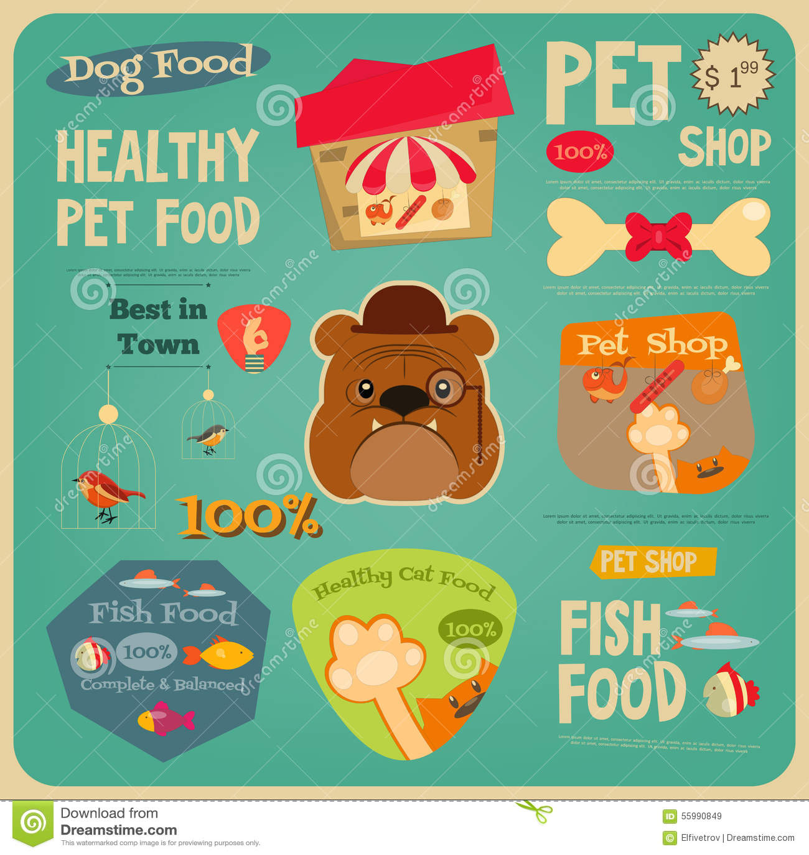 pet shop stock vector
