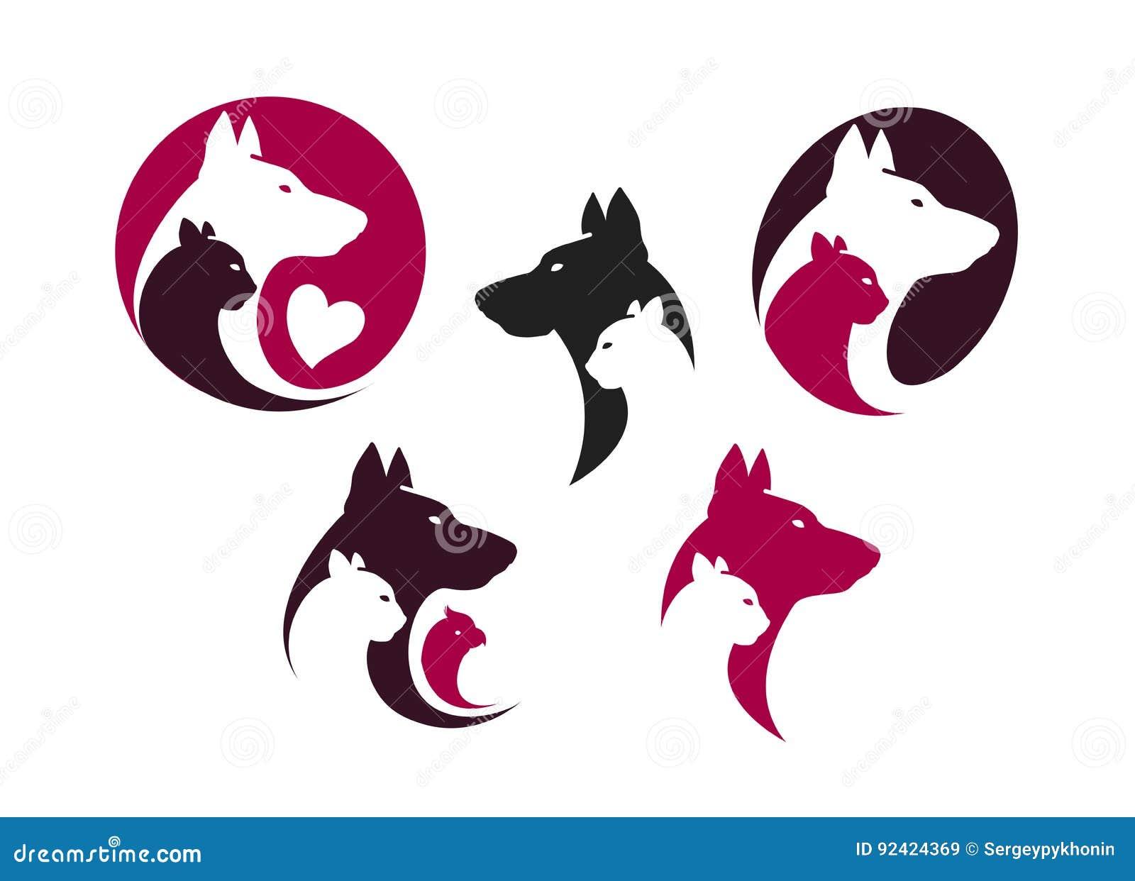 Pet Shop Logo Set Vector Illustration Cartoondealer Com