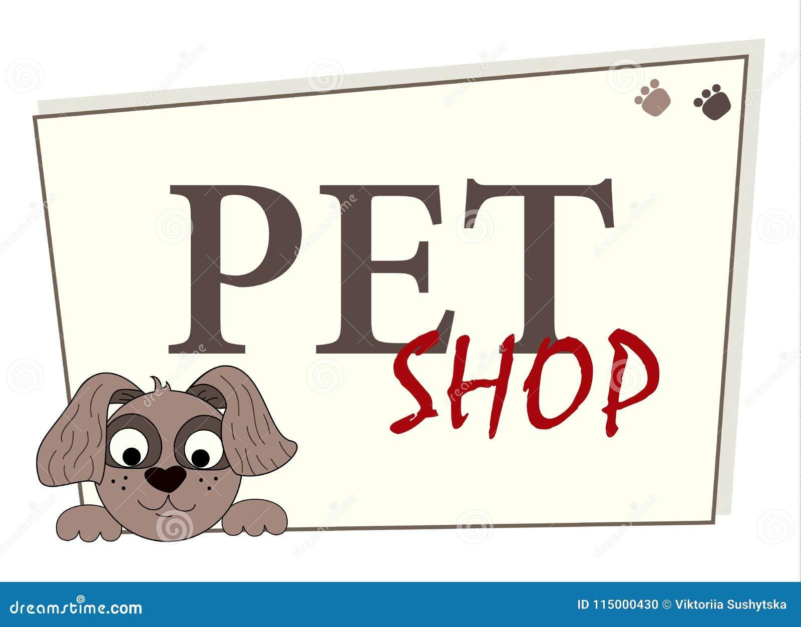 Pet Shop Logo Design Animals Care Symbol Sign Cartoon Dog