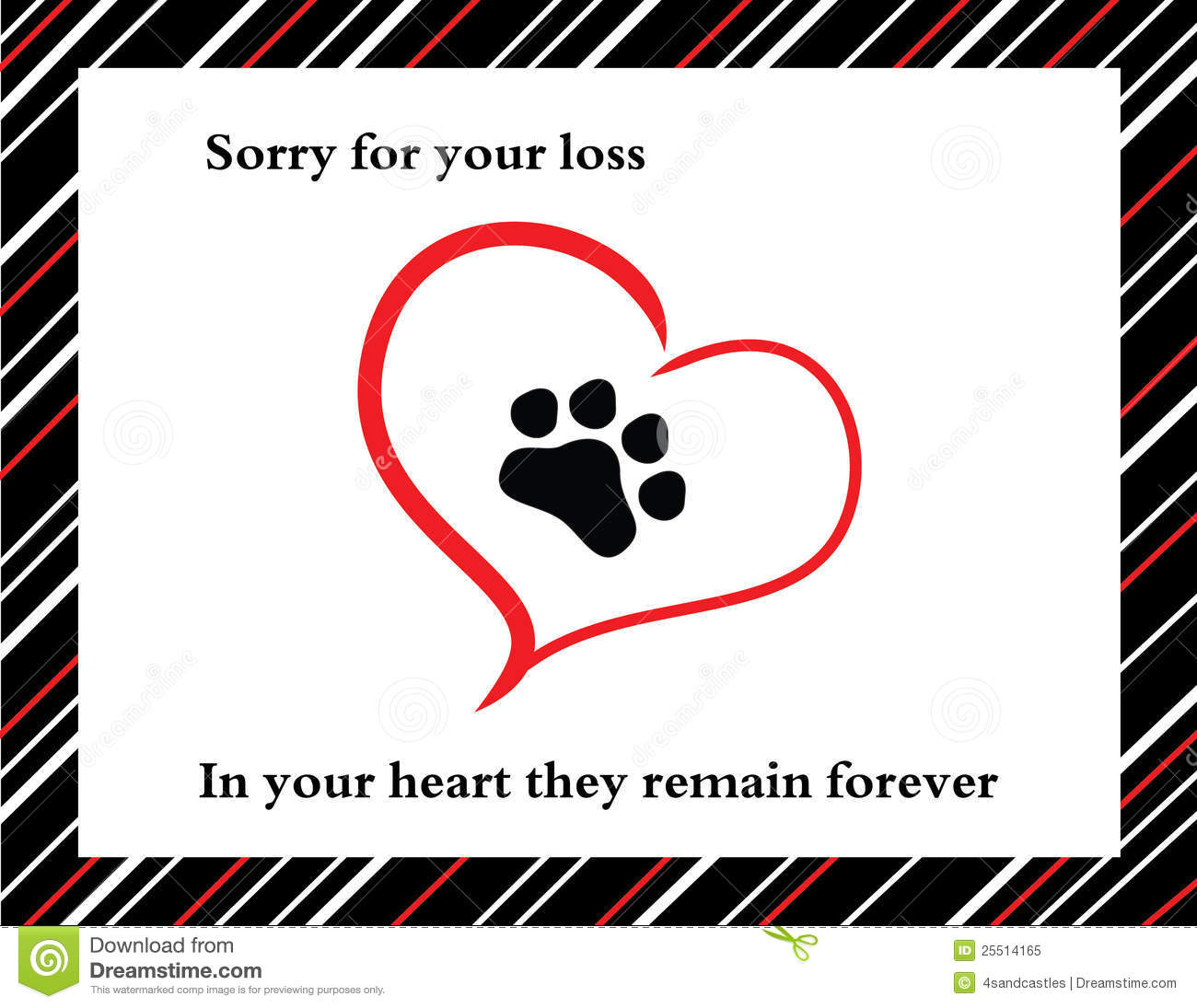 Pet Sympathy Card Royalty Free Stock Photo - Image: 25514165