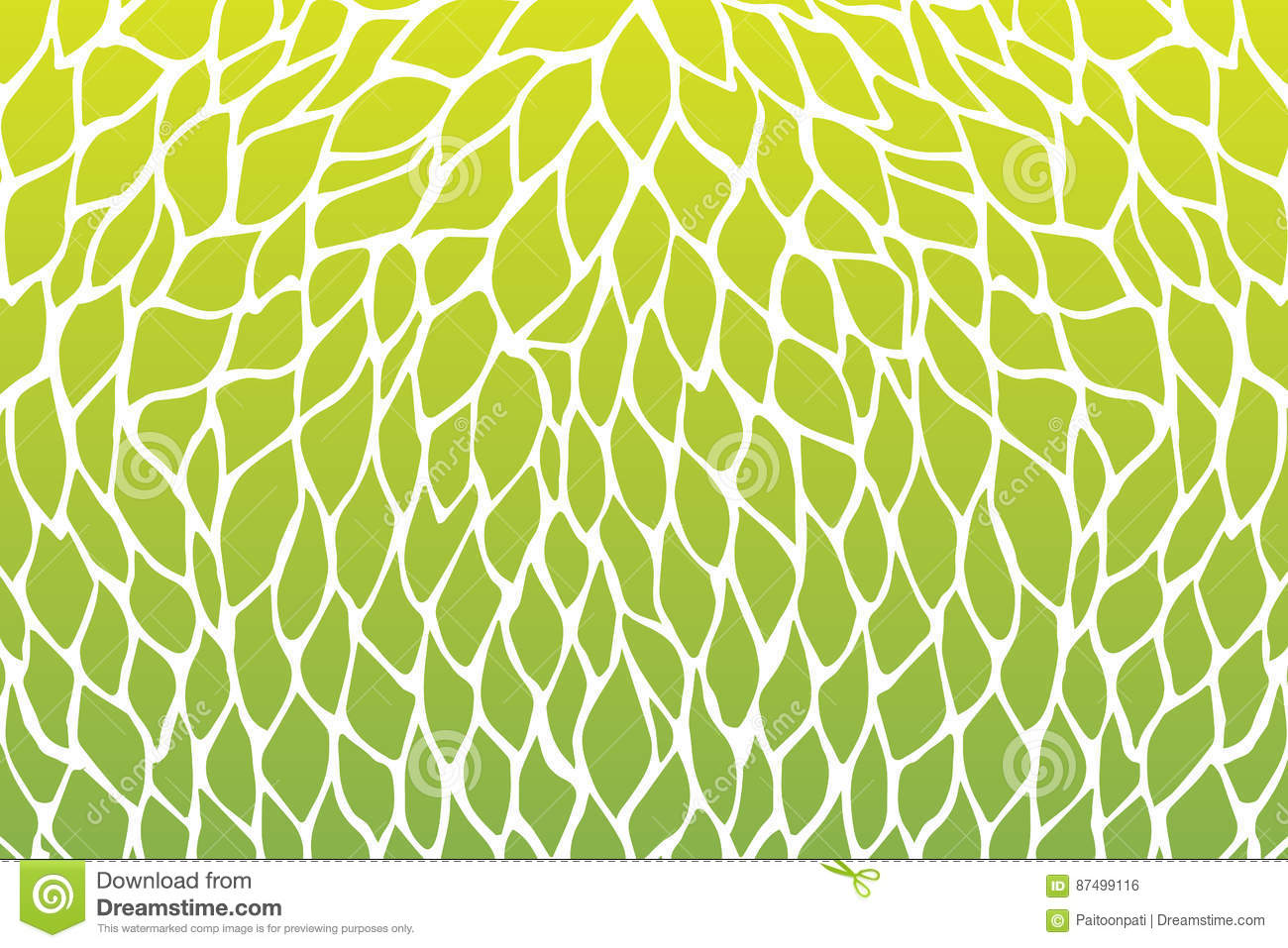 Petals Flower Pattern Design Green Yellow Gradients Color Stock ...