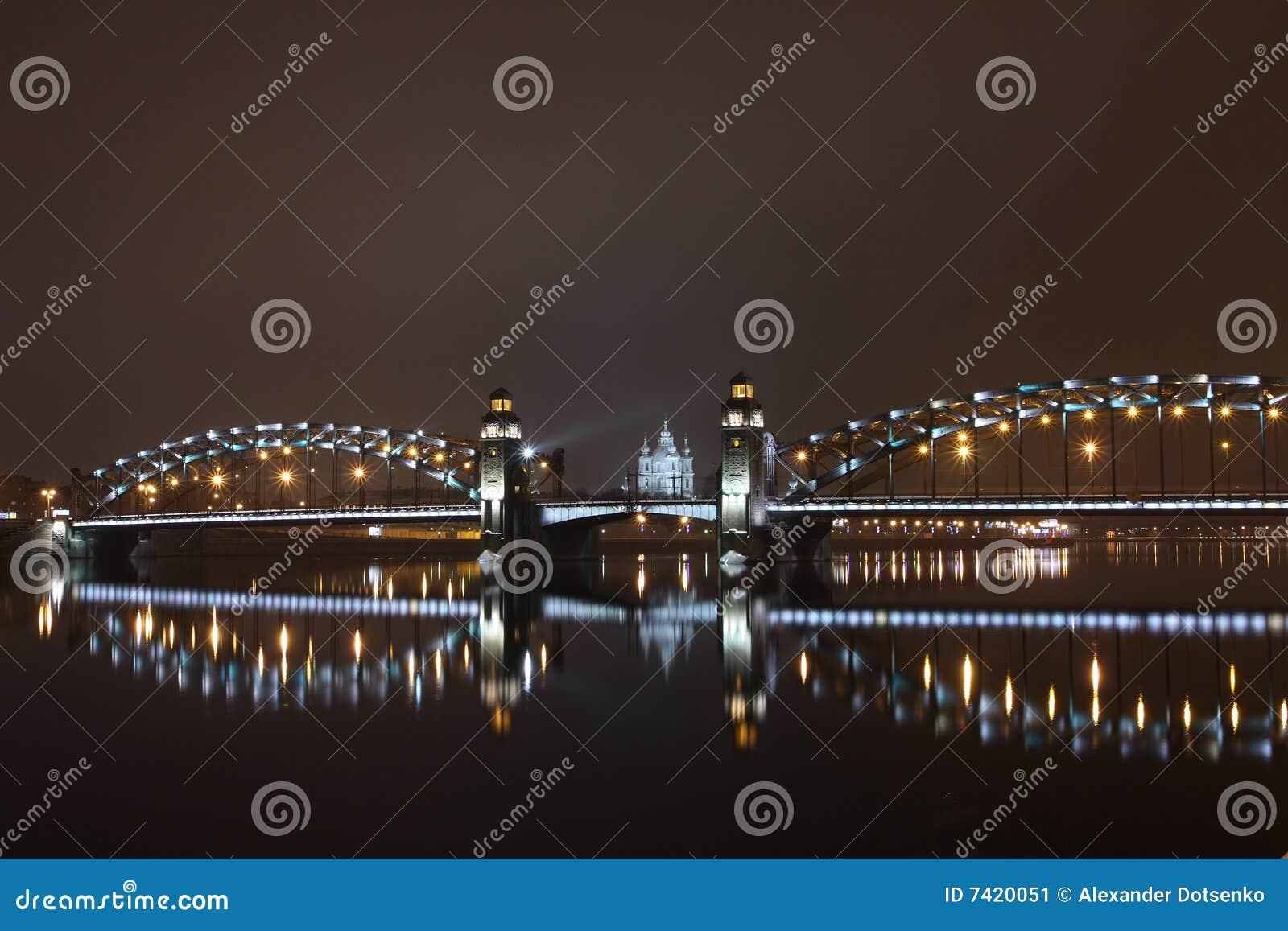 Peter el gran puente de St Petersburg
