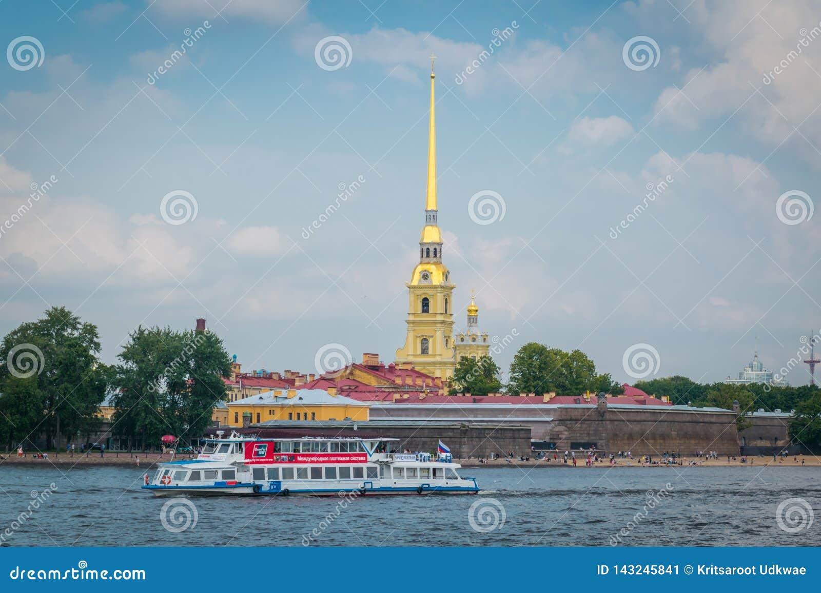 Peter en van Paul vesting in Heilige Petersburg, Rusland