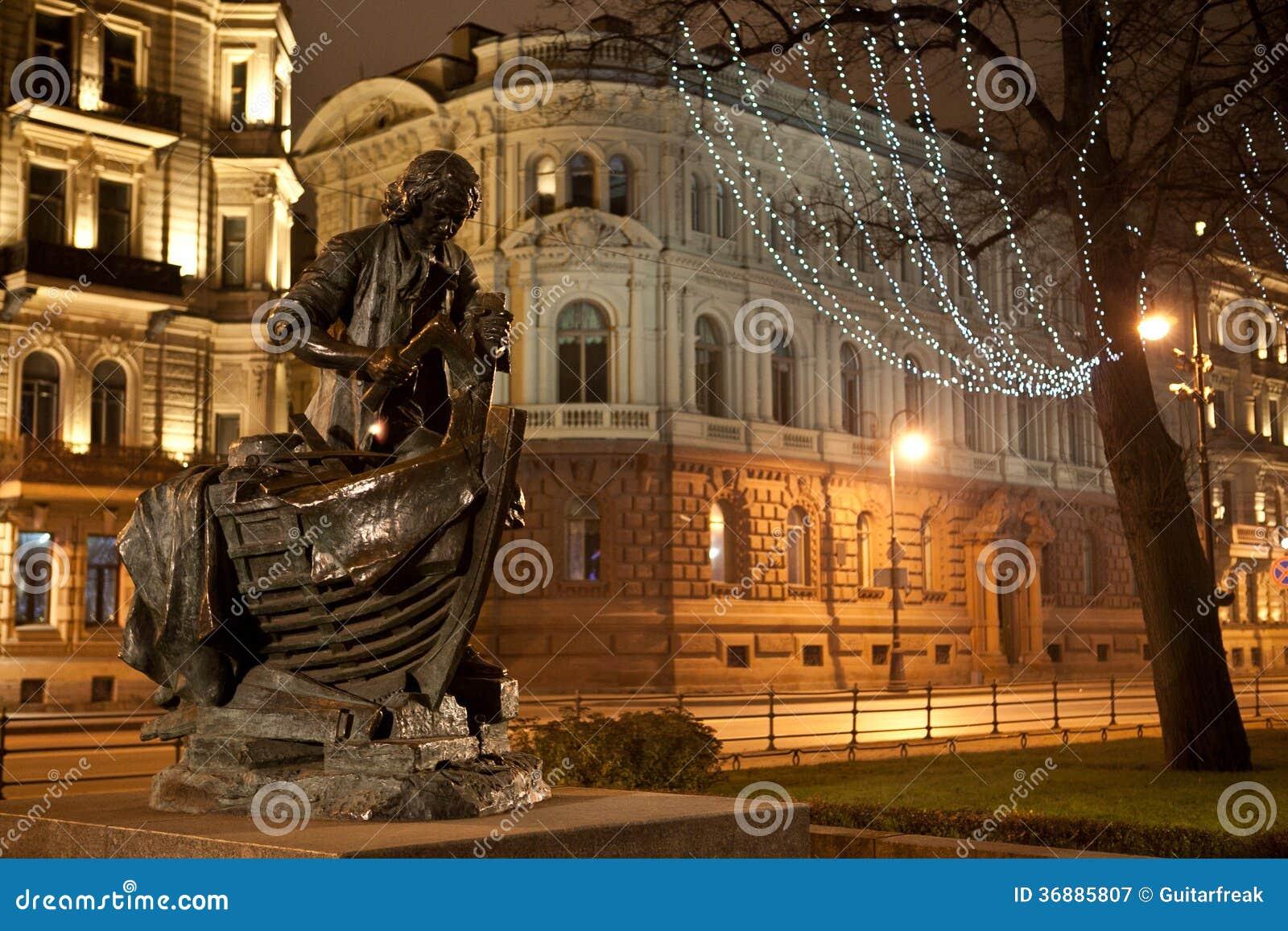 Download Peter la grande statua immagine stock. Immagine di paesaggio - 36885807