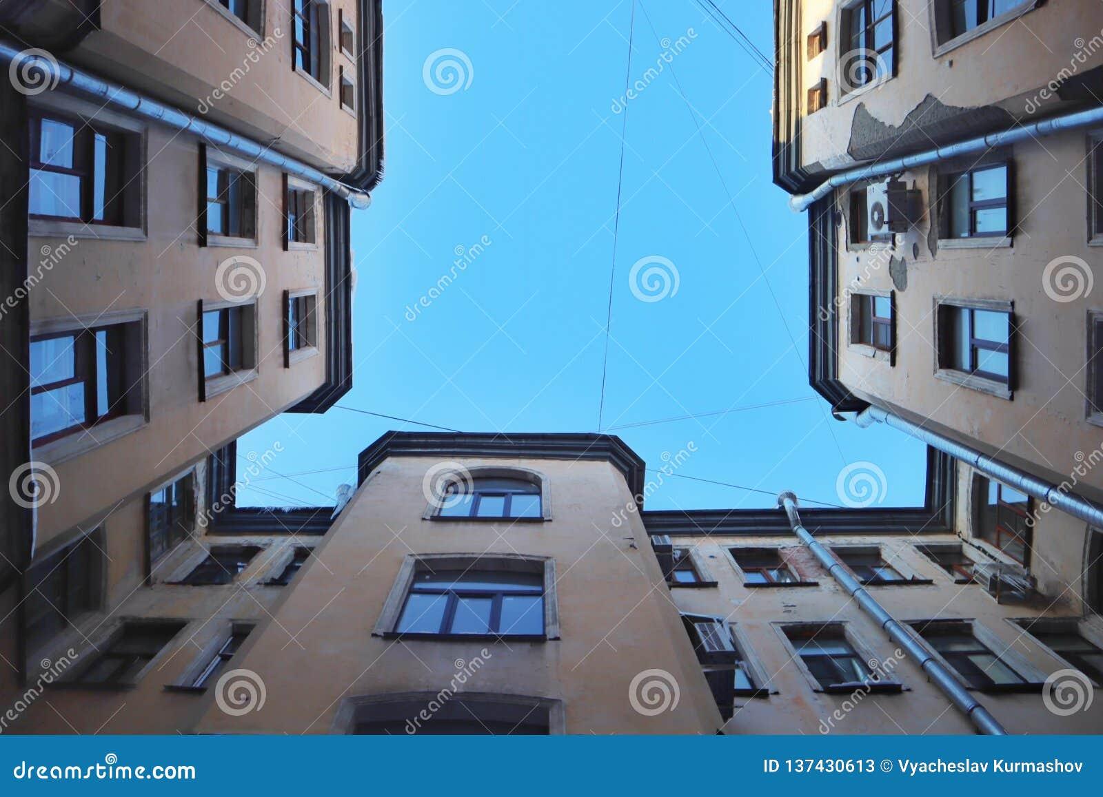 Petersburg jardy patrzeją w górę