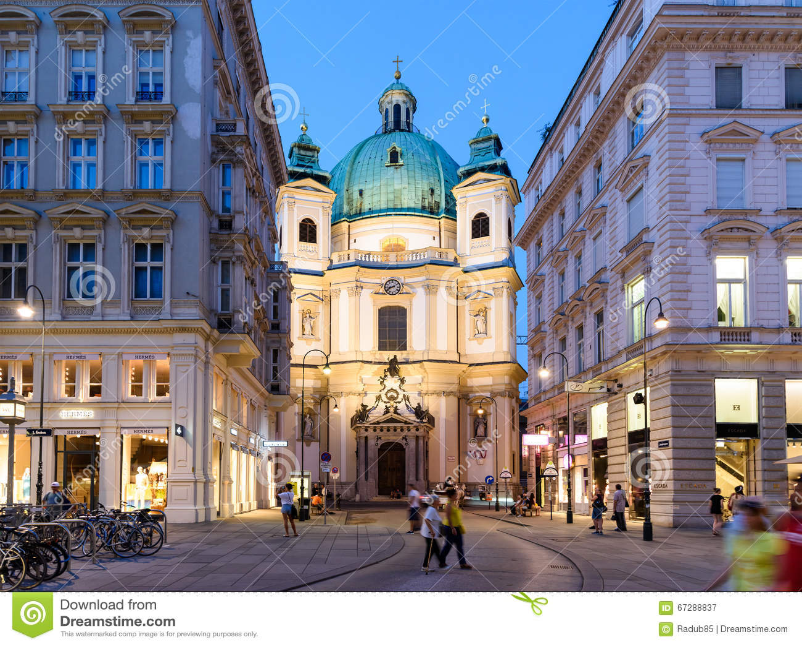 Peterskirche (helgon Peter Church) i Wien
