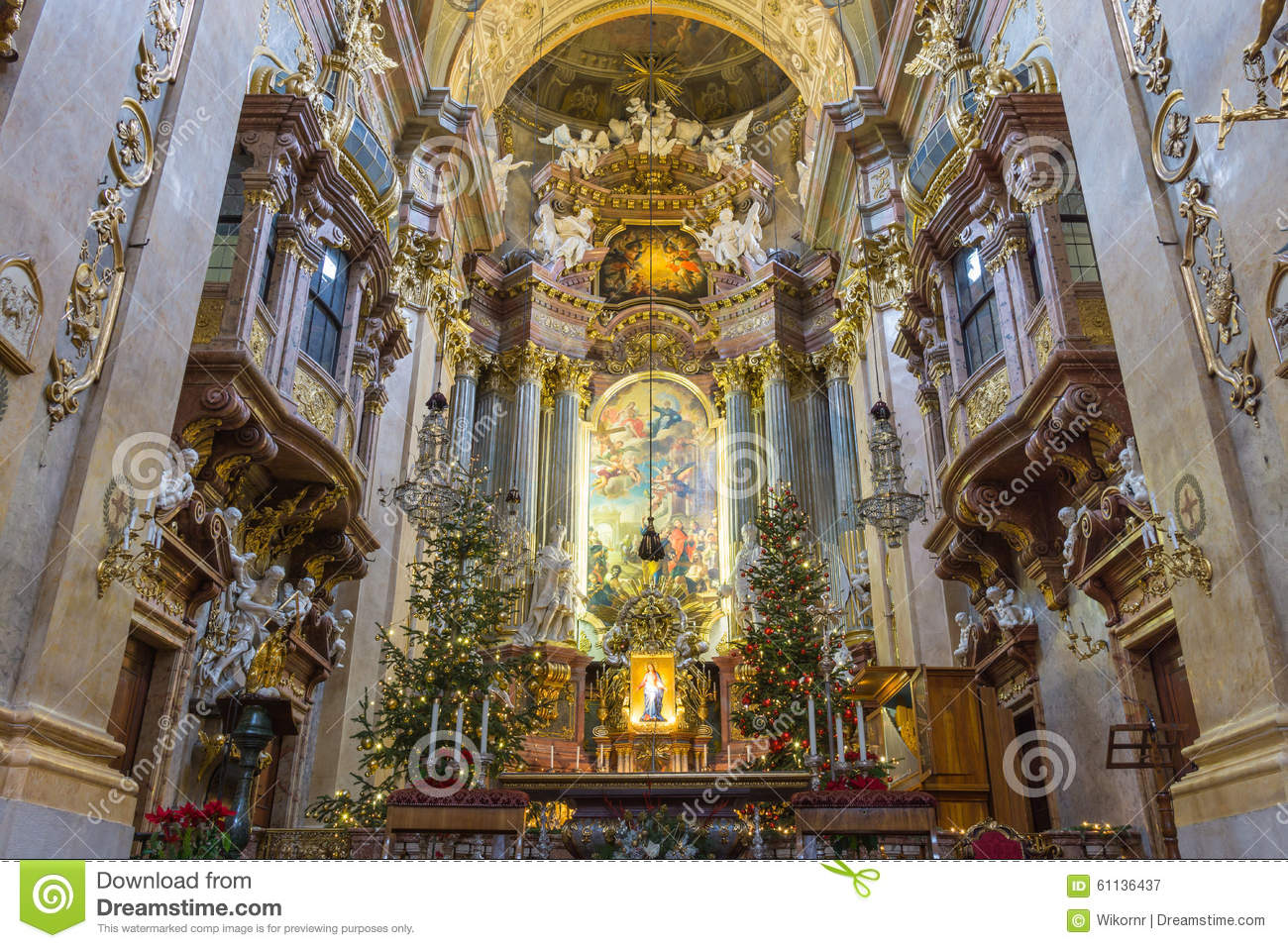 Peterskirche Vienna Austria Editorial Photography Image Of