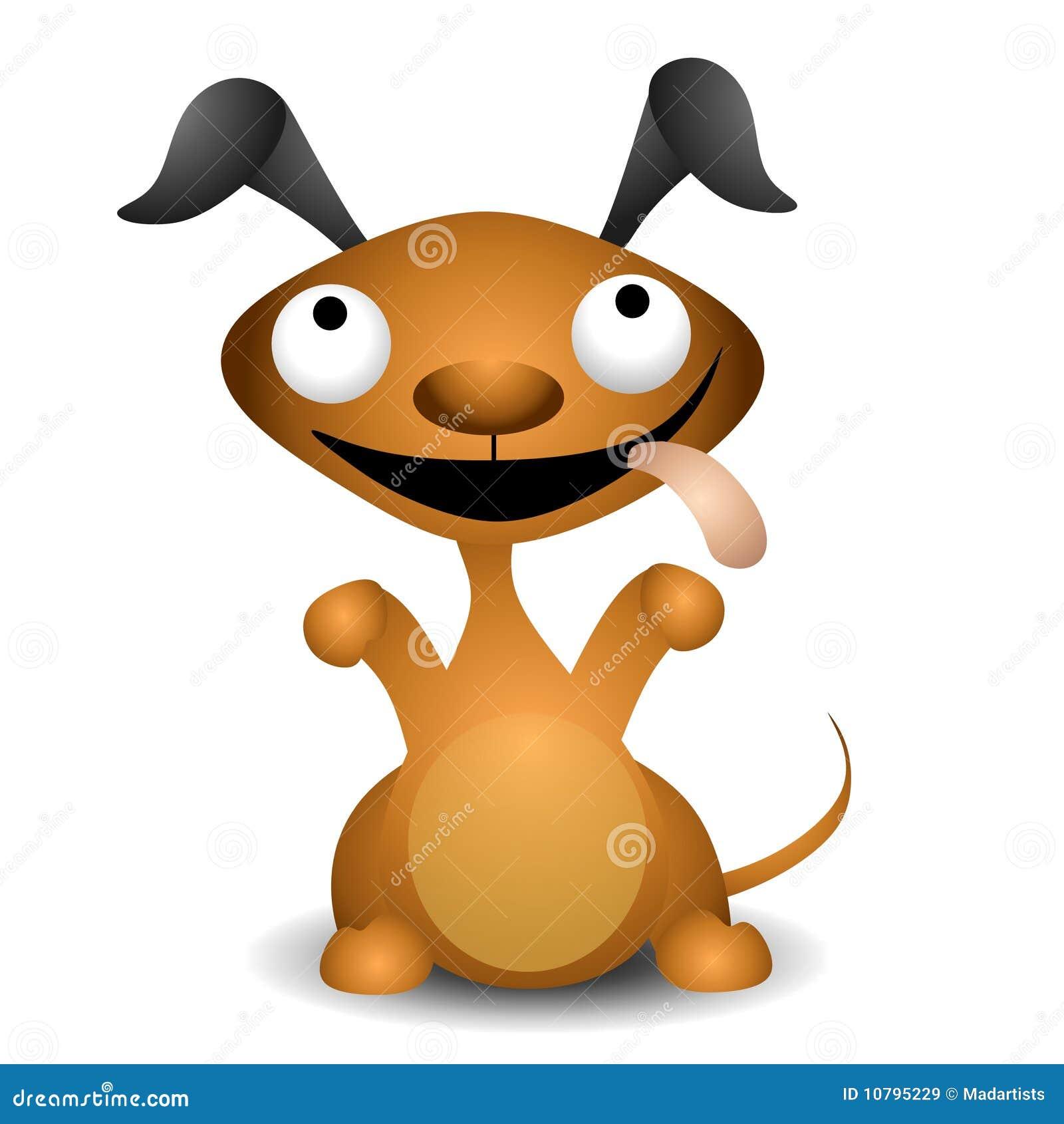 Petición del perro de perrito de la historieta