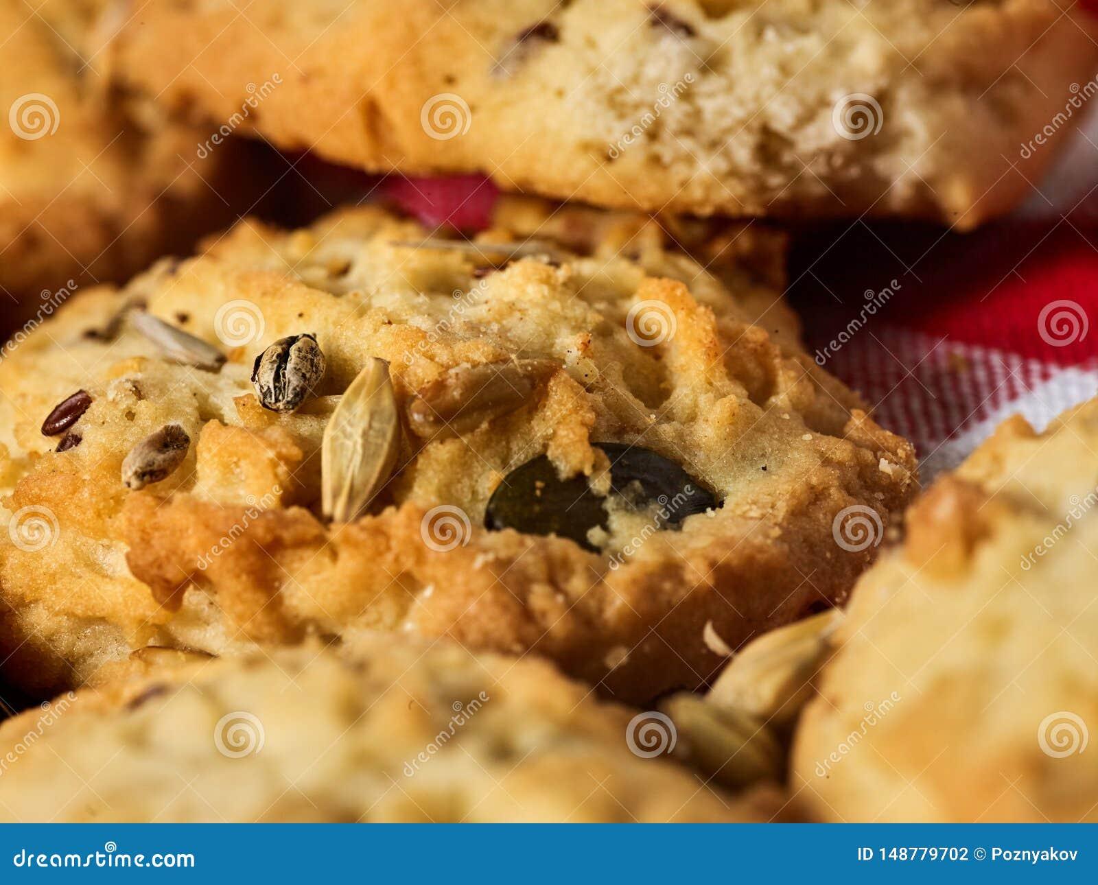 Petisco das cookies de farinha de aveia