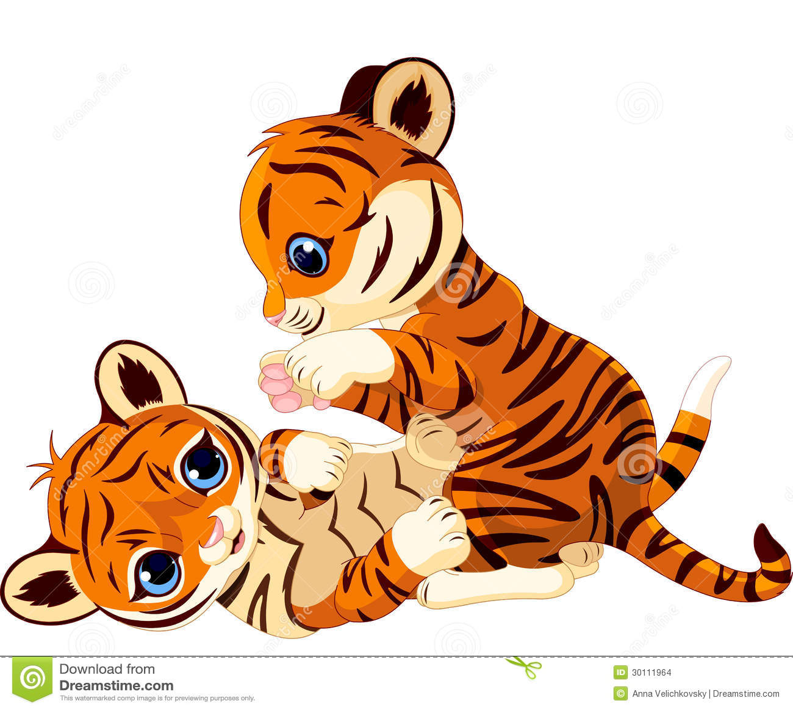 Petit animal de tigre espiègle mignon