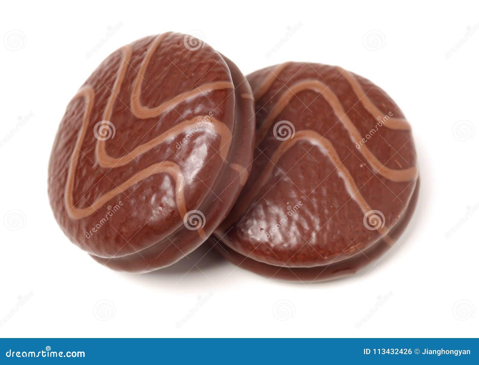 Petit Biscuit Rond De Chocolat Photo Stock Image Du Brun Rond