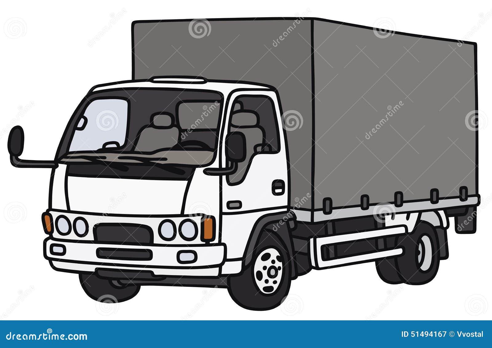 petit camion de distribution illustration de vecteur illustration du transport feuille 51494167. Black Bedroom Furniture Sets. Home Design Ideas