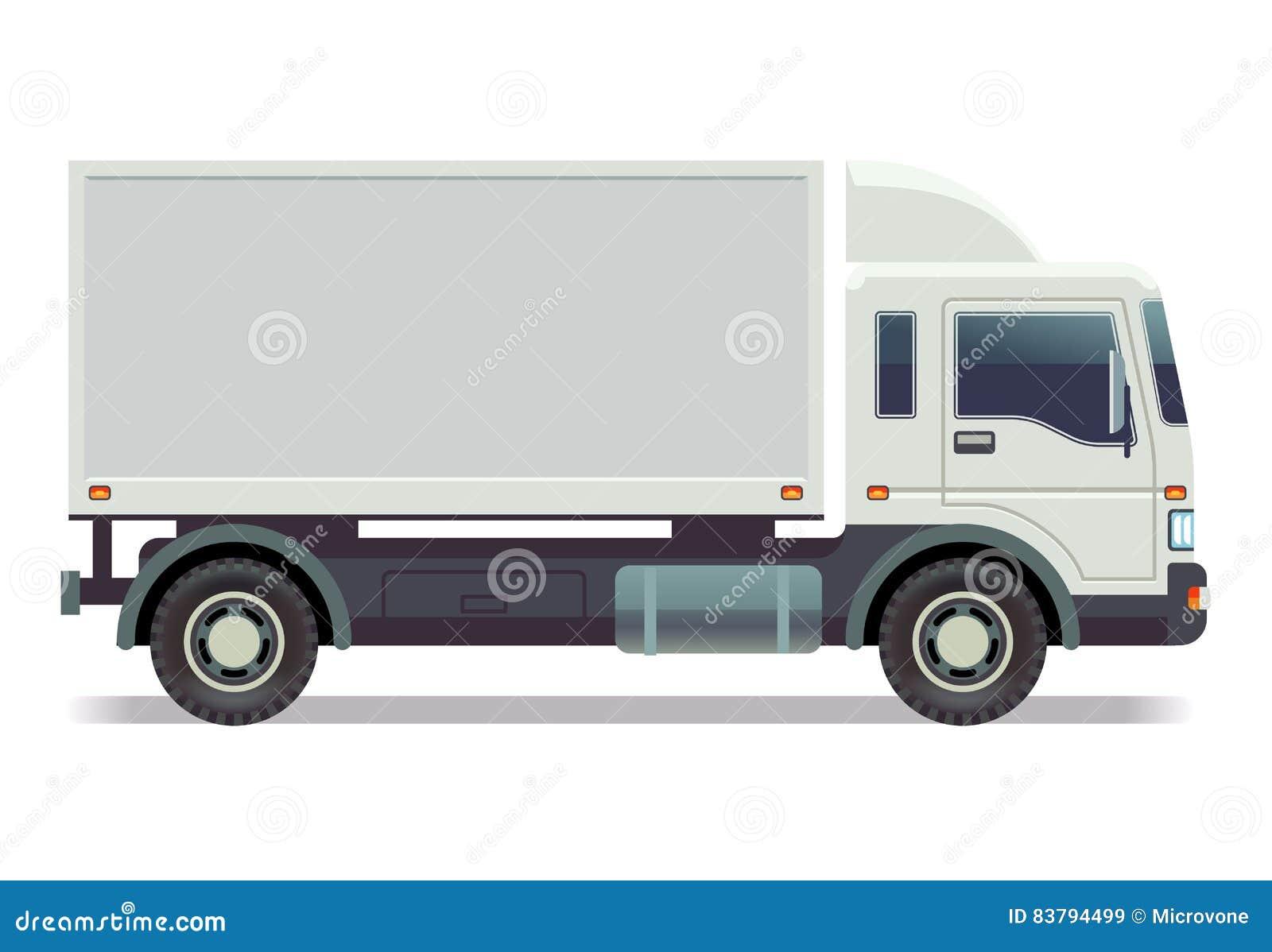 petit camion fourgon sur l 39 illustration blanche de vecteur illustration de vecteur. Black Bedroom Furniture Sets. Home Design Ideas