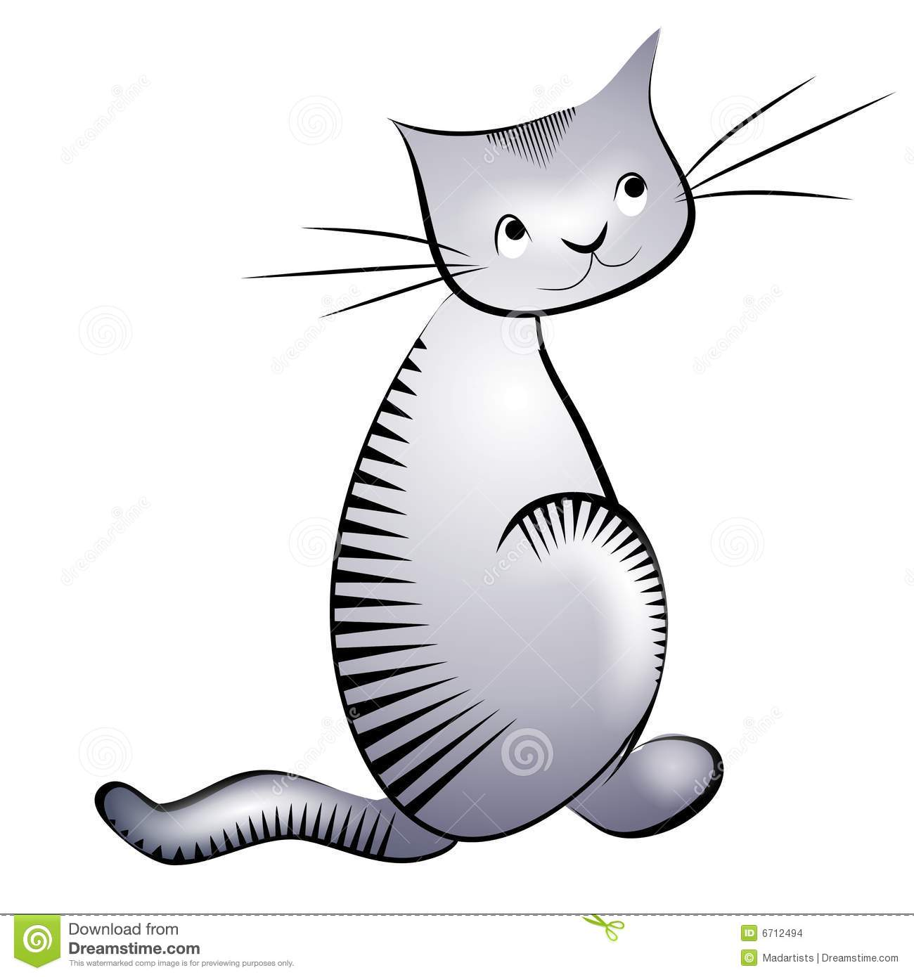 Petit chat gris illustration stock illustration du cartoons 6712494 - Petit chat dessin ...