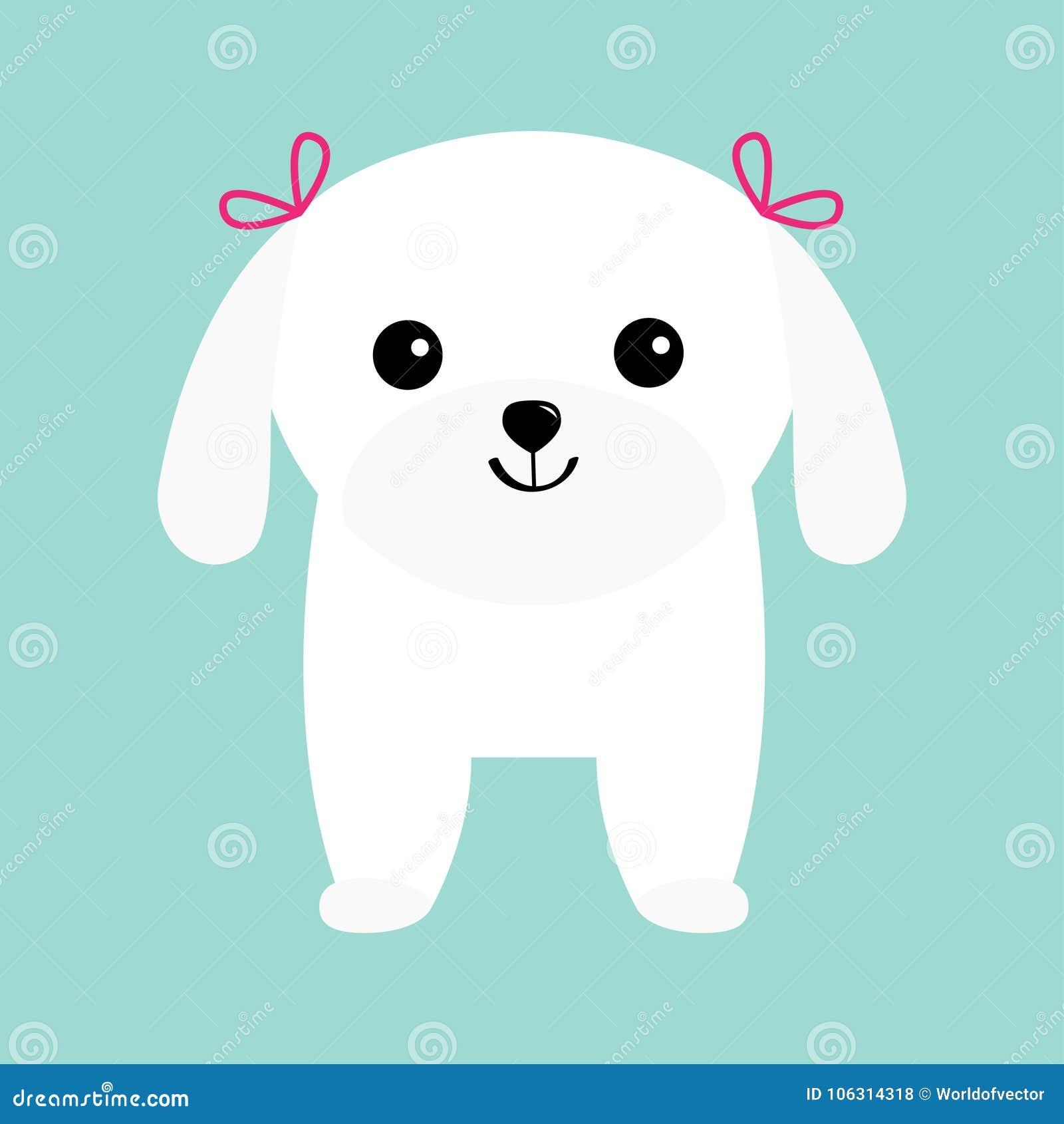 petit chien d 39 appartement de blanc de chiot de chien. Black Bedroom Furniture Sets. Home Design Ideas