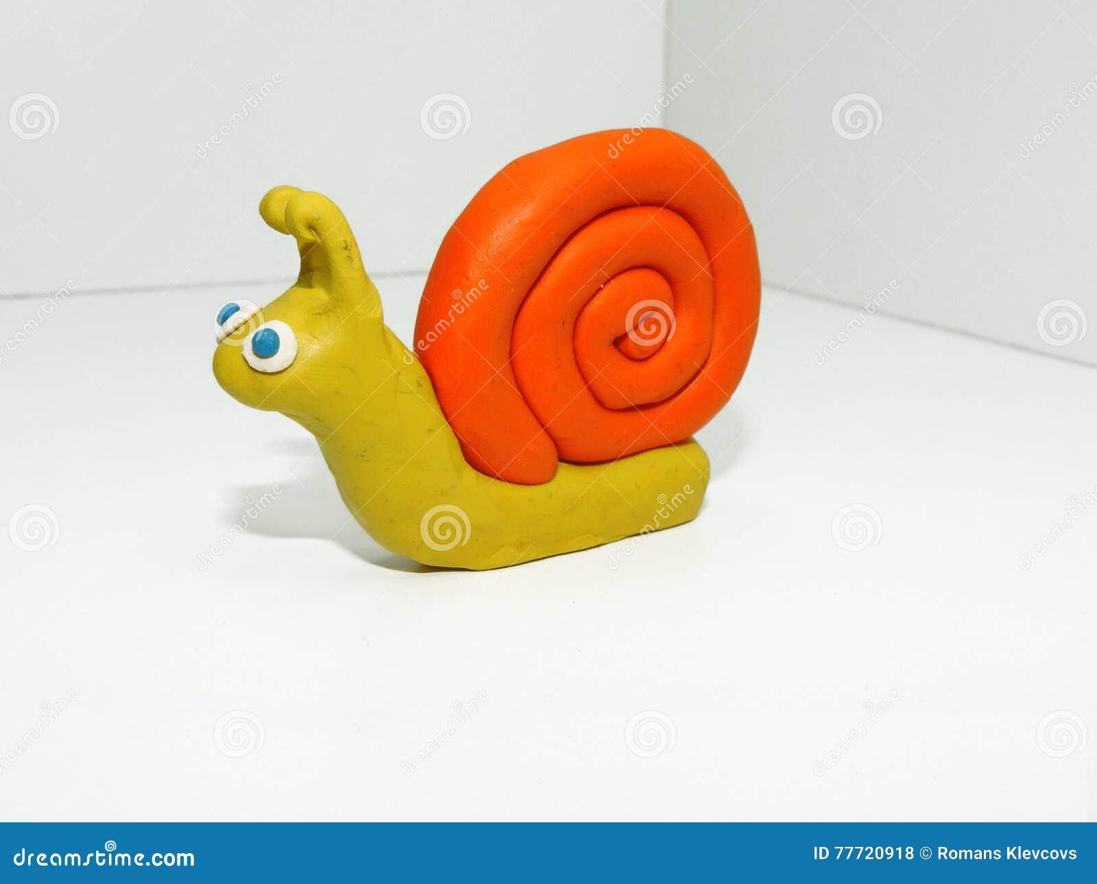 Petit escargot jaune