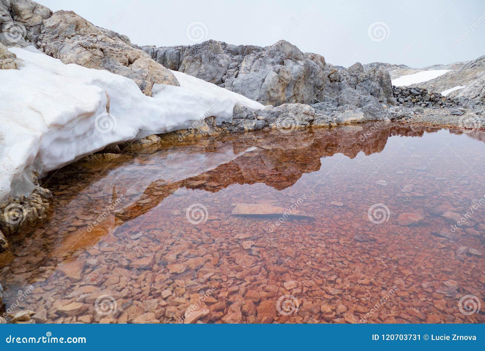 Petit groupe d un lac alpin minuscule