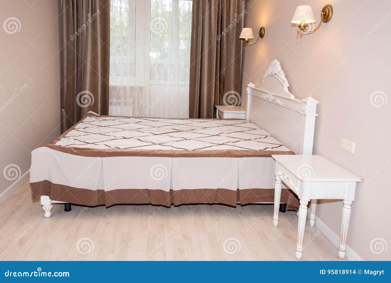 Petit Intérieur Moderne De Chambre à Coucher Couleurs En Pastel, Conception  Intérieure