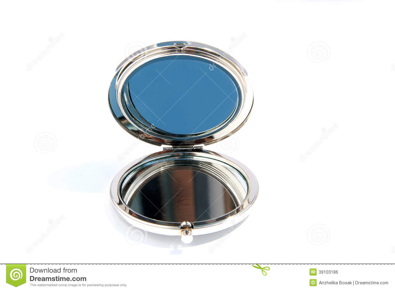 Petit miroir en verre rond photo stock image du beaut for Theatre du petit miroir