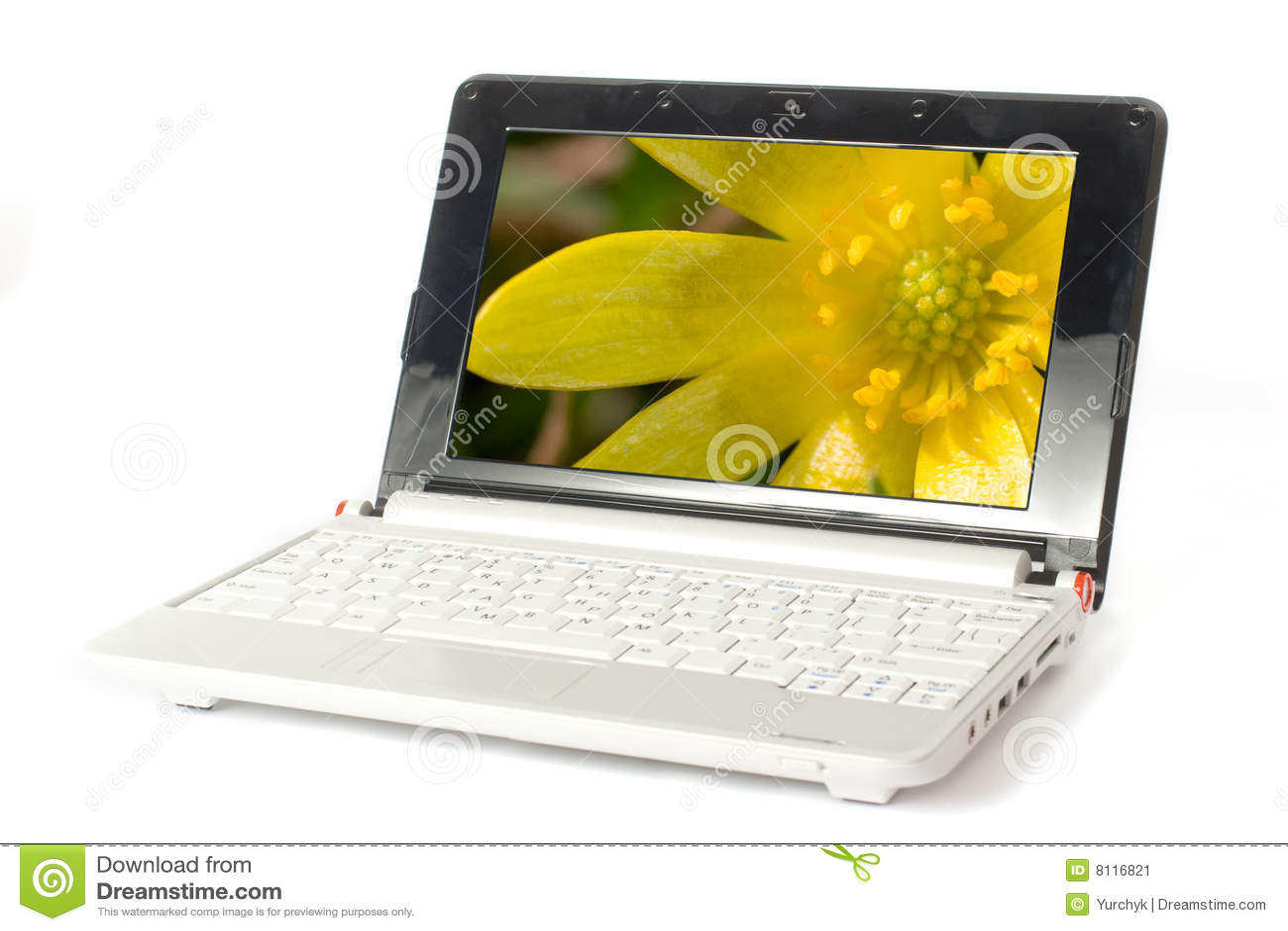 petit moderne d 39 ordinateur portatif image stock image du affaires laptop 8116821. Black Bedroom Furniture Sets. Home Design Ideas