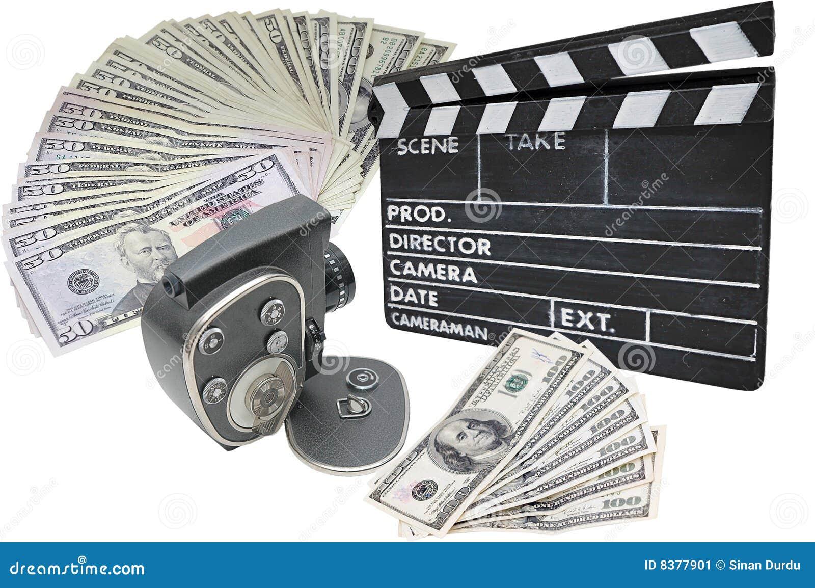 Petit morceau de film d argent de clapperboard d appareil-photo vieux