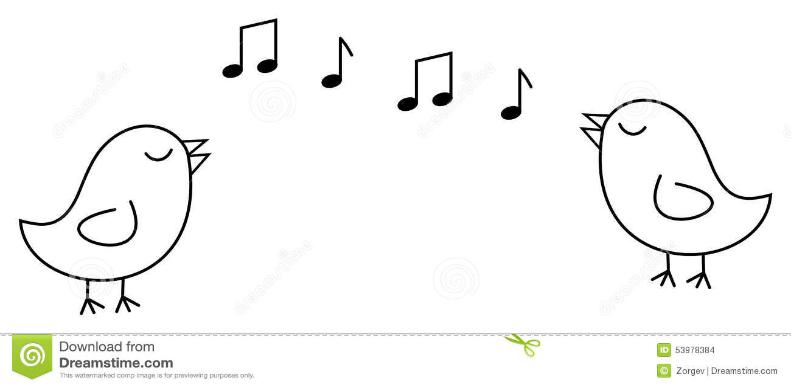 Petit oiseau 2 noir qui chante stock images 4 photos - Dessin oiseau qui chante ...