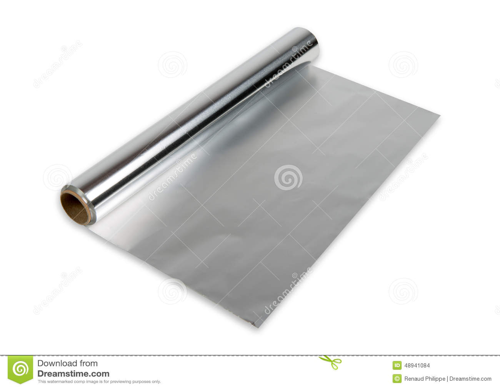 Petit pain de papier d aluminium
