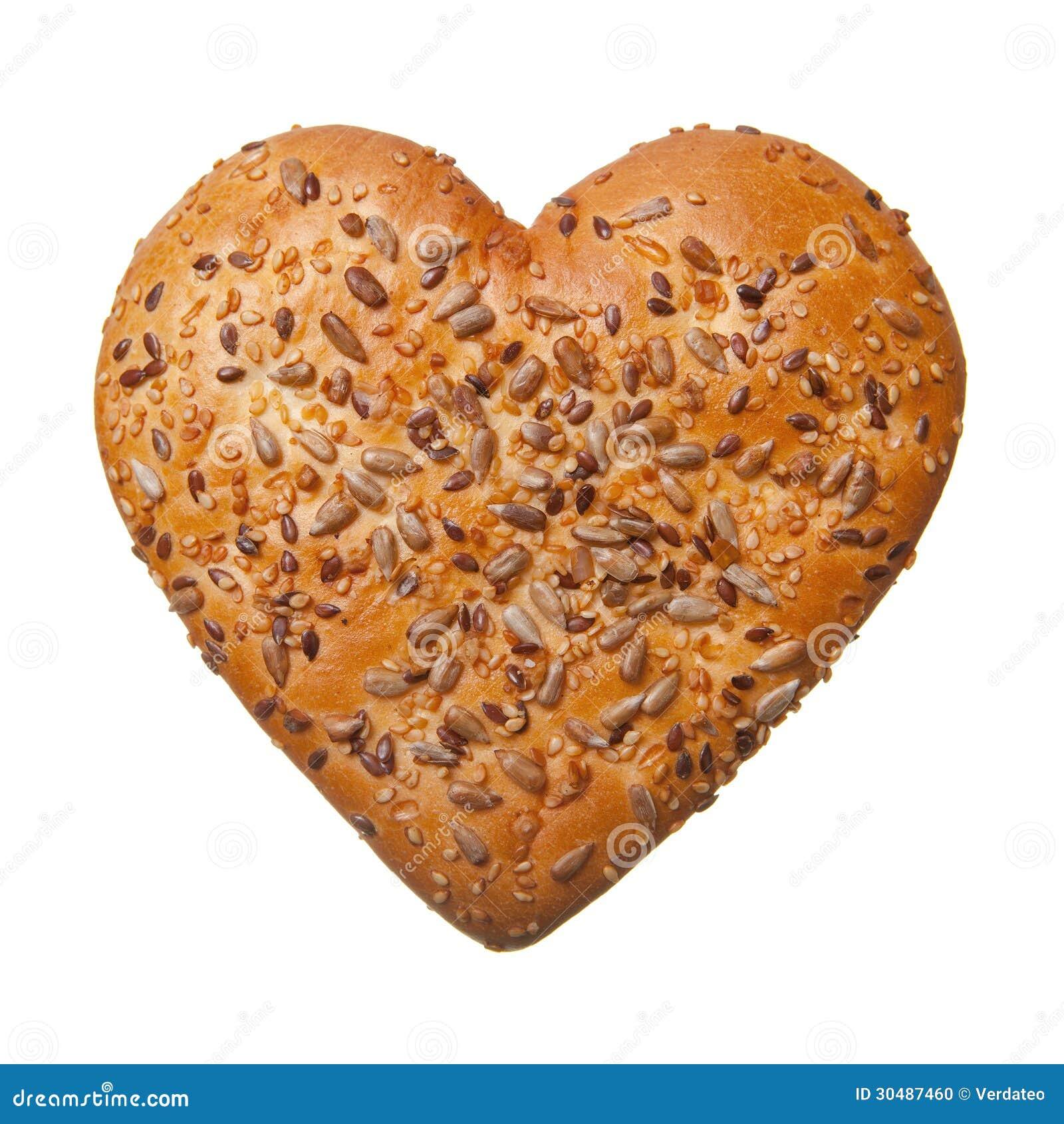 petit pain en forme de coeur photo stock image 30487460. Black Bedroom Furniture Sets. Home Design Ideas
