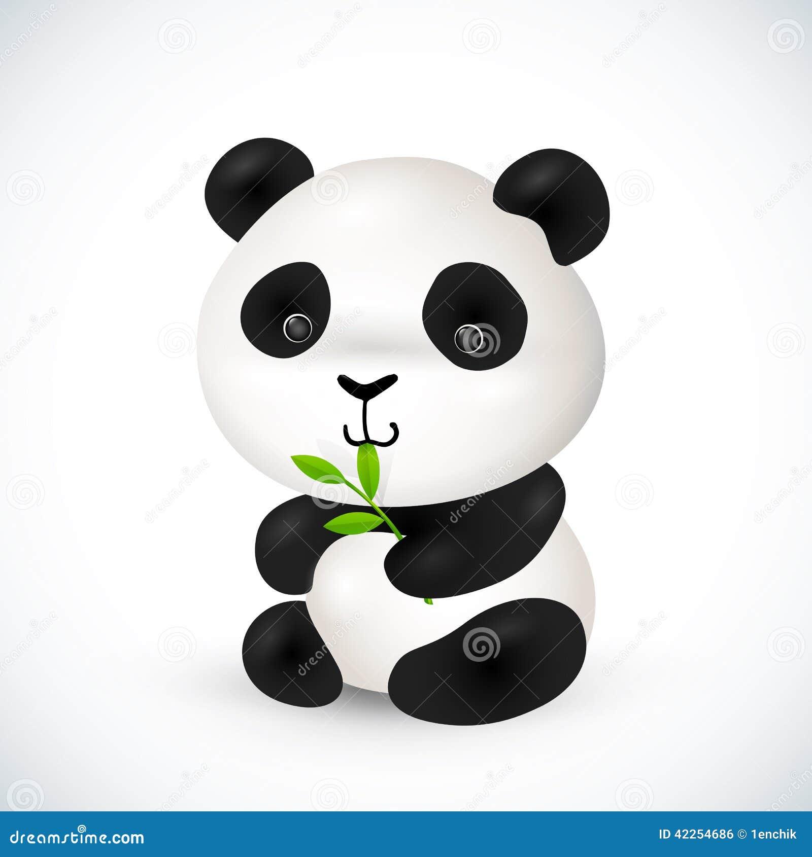 petit panda mignon de vecteur illustration de vecteur image 42254686. Black Bedroom Furniture Sets. Home Design Ideas