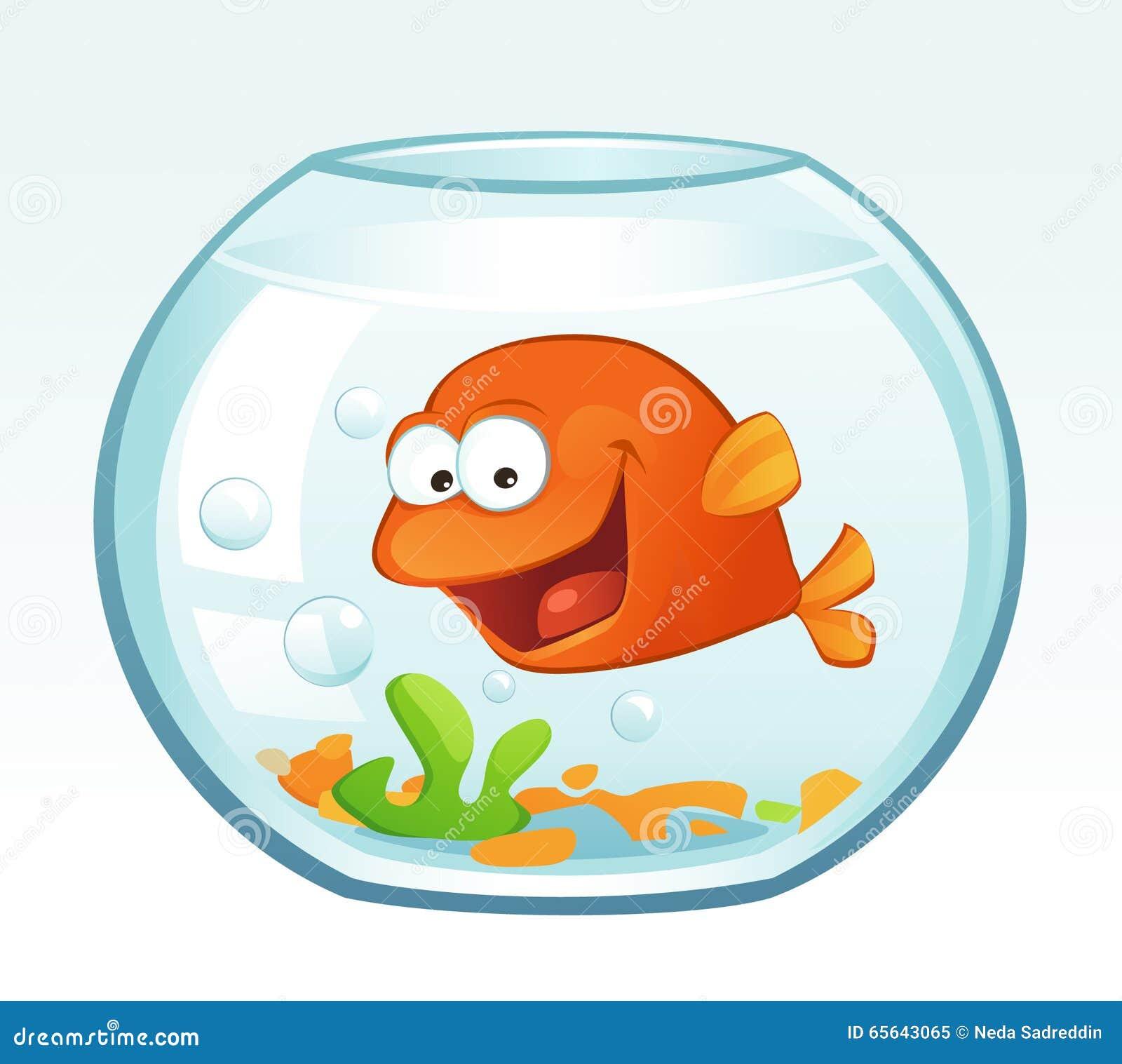 Petit poisson rouge rire illustration de vecteur for Petit poisson rouge