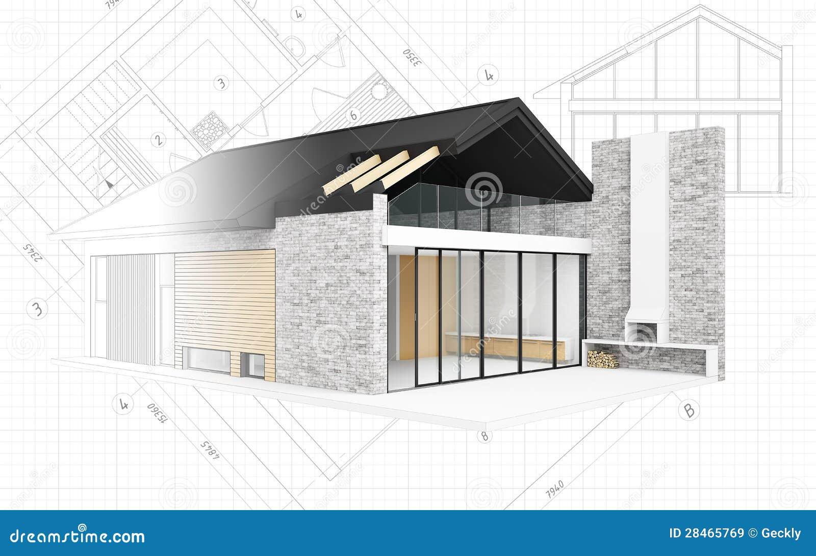 Petit projet moderne de maison illustration stock image for Projet maison moderne