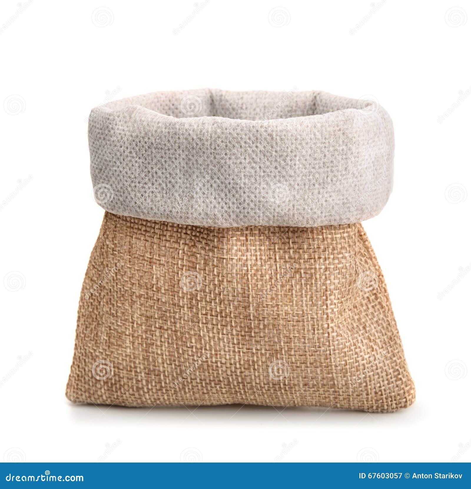 petit sac de toile de jute photo stock image 67603057. Black Bedroom Furniture Sets. Home Design Ideas