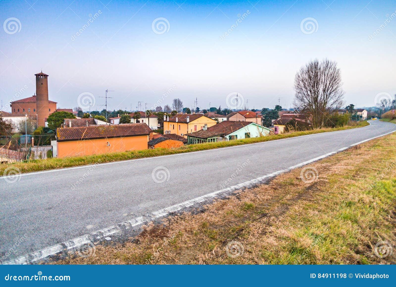 Petit village de pays en Italie