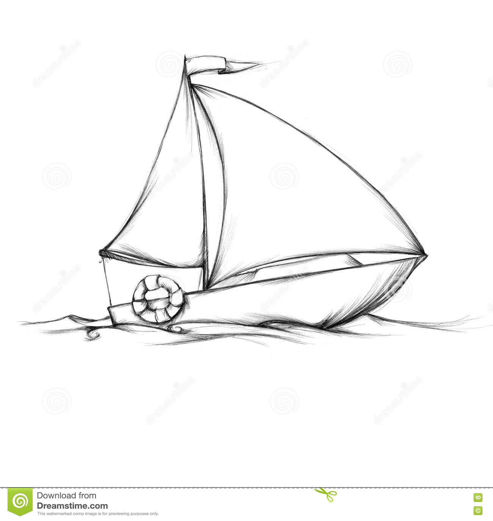 Petit Voilier Simple Illustration Stock Illustration Du Illustration 73717809