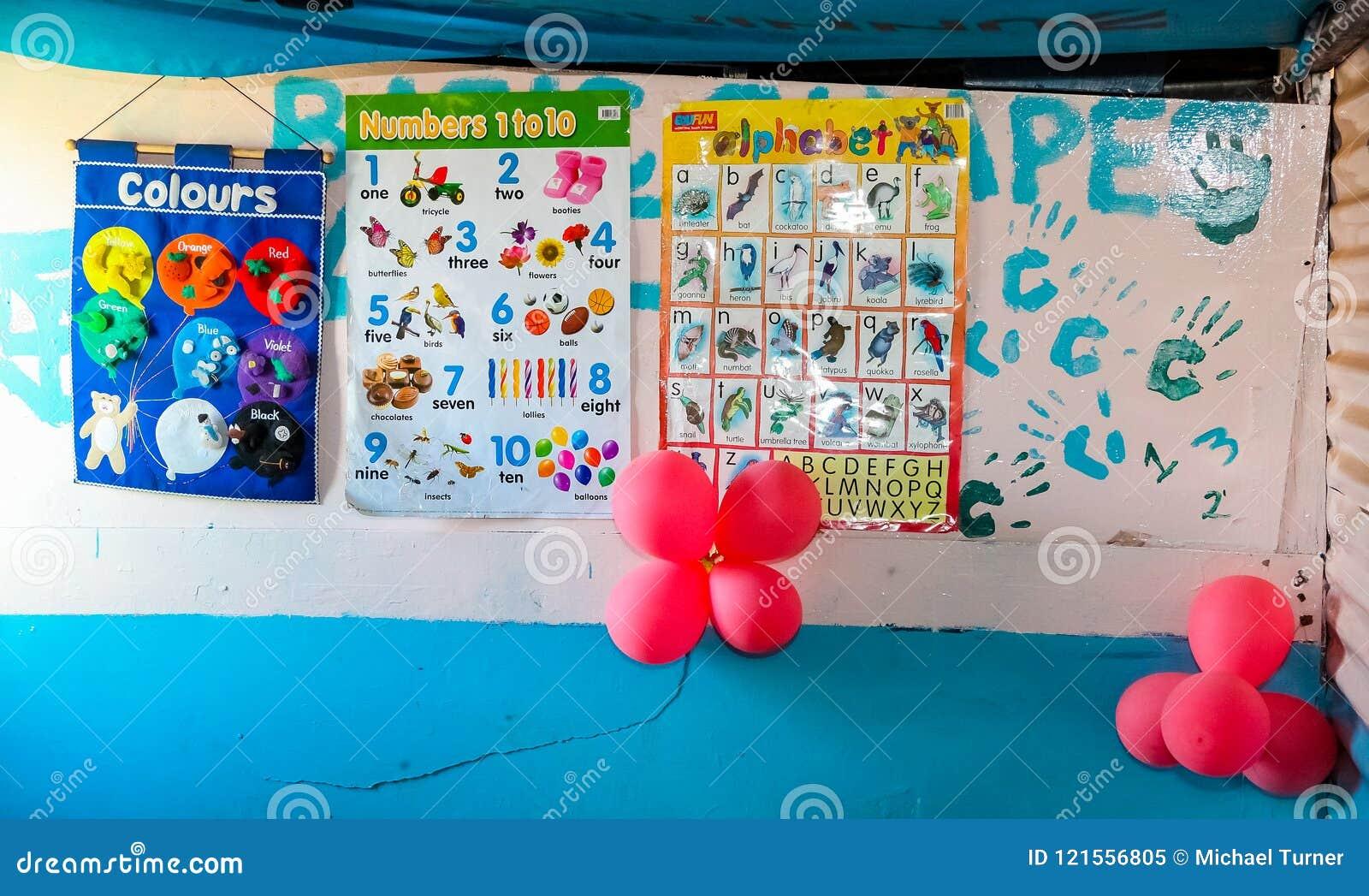 Petite école maternelle de garde de garderie dans le voisinage suburbain de Soweto