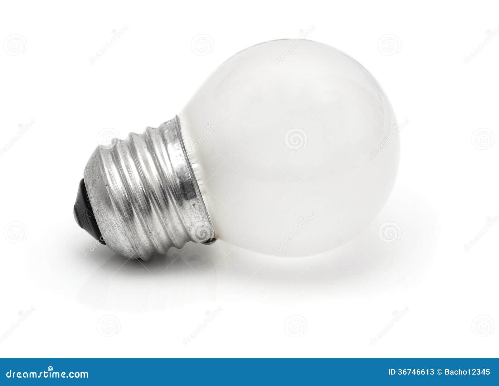petite ampoule blanche d 39 isolement sur le blanc image. Black Bedroom Furniture Sets. Home Design Ideas