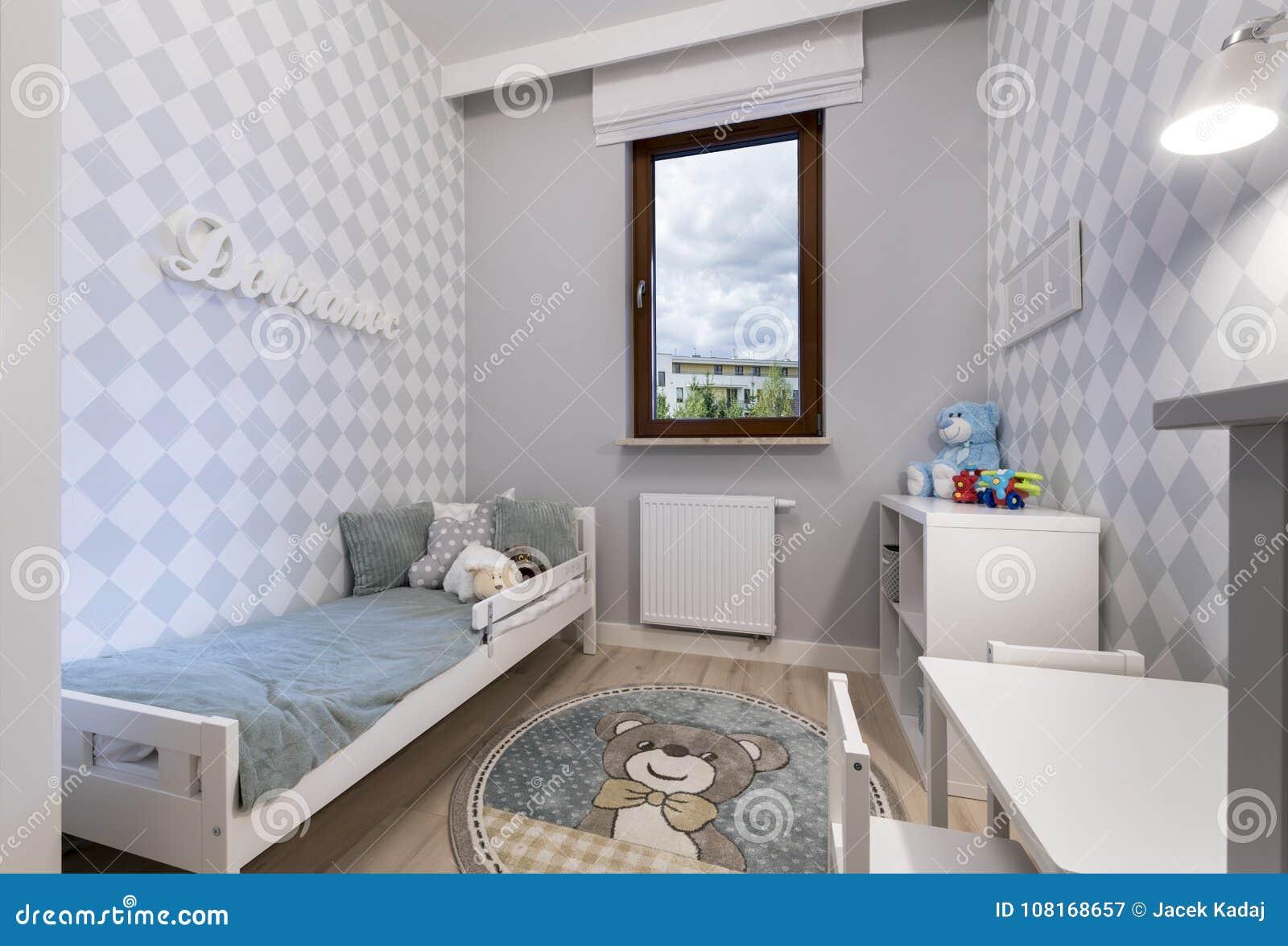 Deco Petite Chambre Enfant petite chambre d'enfant en appartement moderne image stock