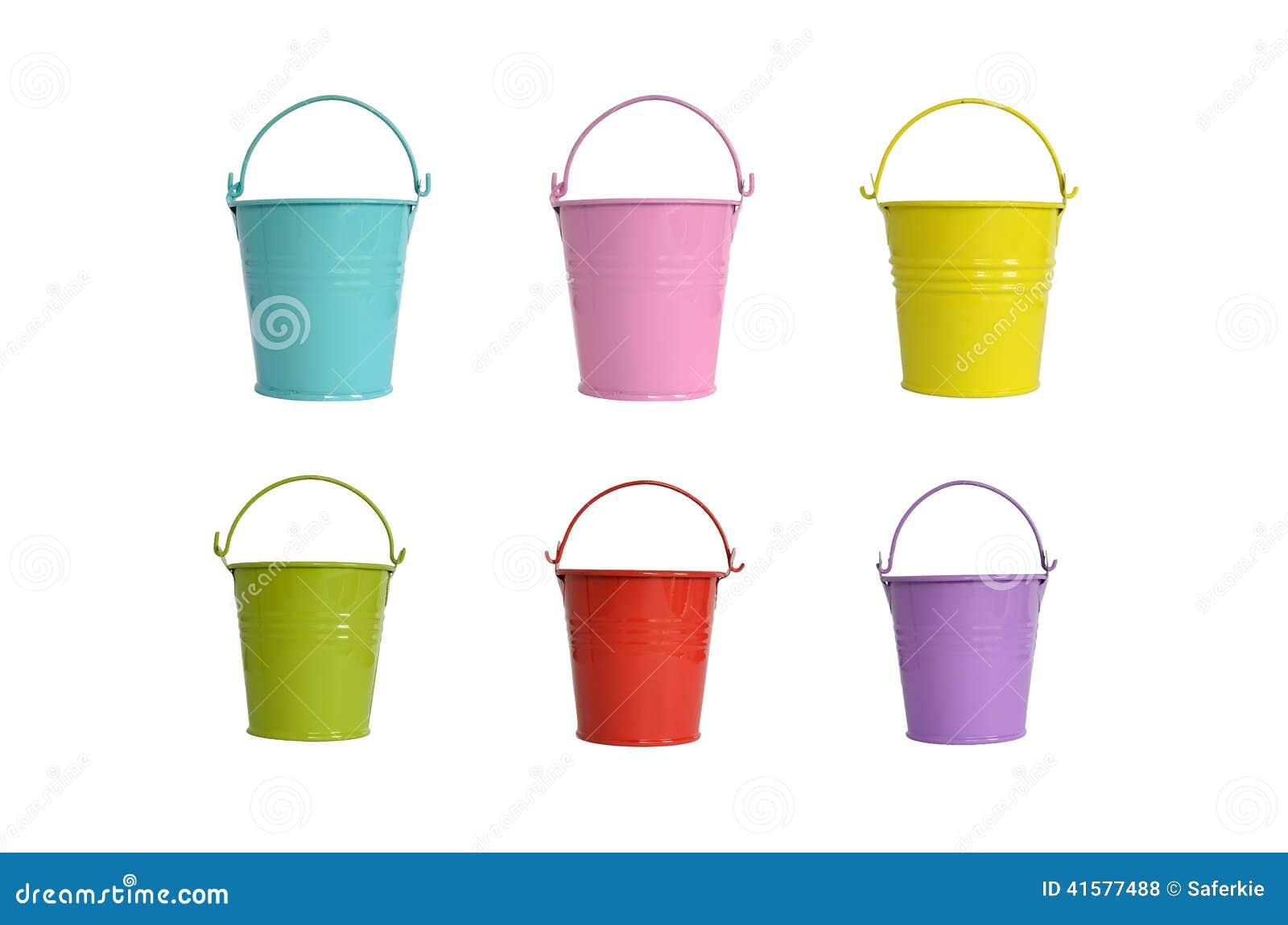 petite couleur de sucrerie de pot de fleur en m tal photo stock image 41577488. Black Bedroom Furniture Sets. Home Design Ideas