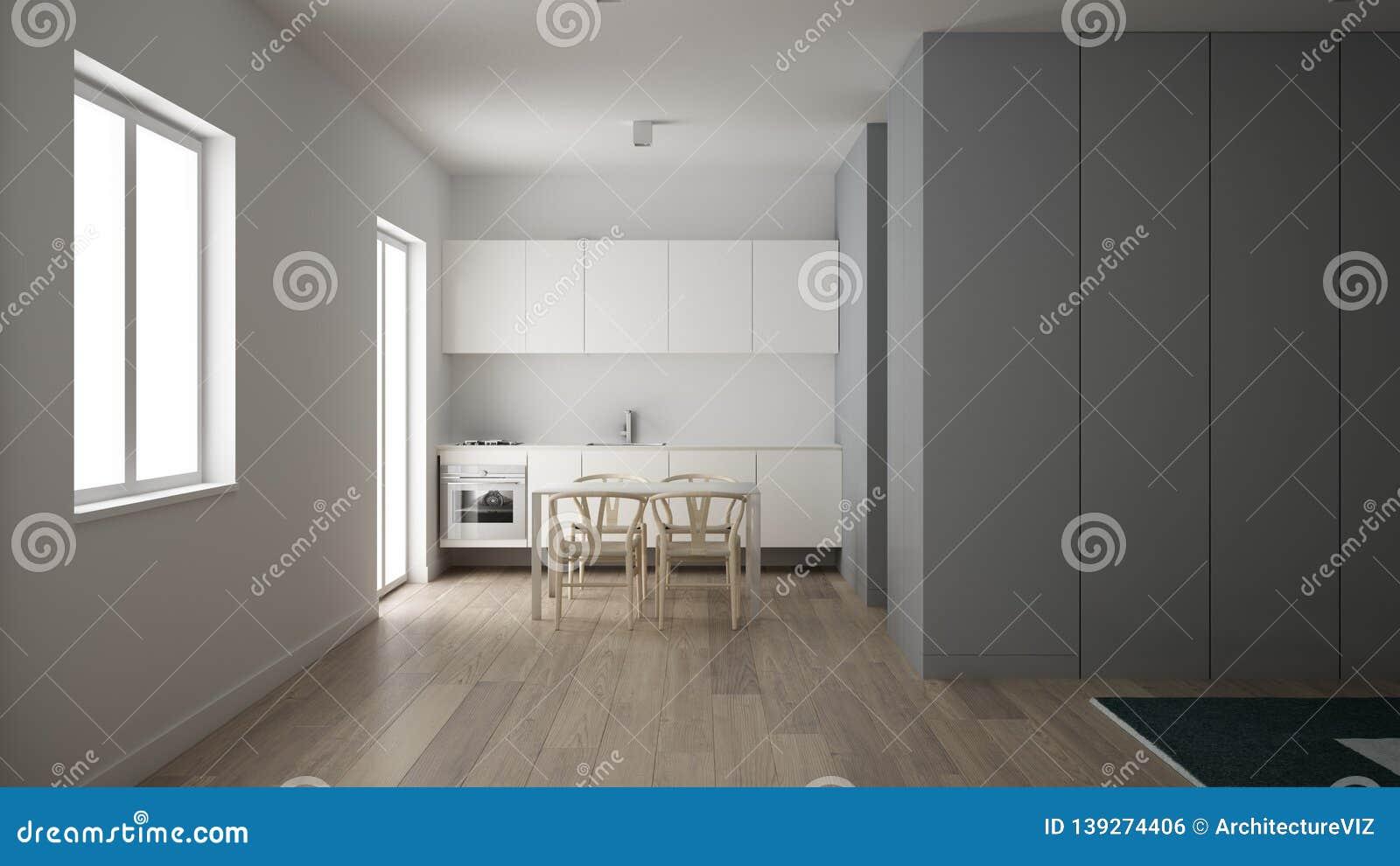 Petite Cuisine Minimaliste En Un Appartement De Chambre à ...