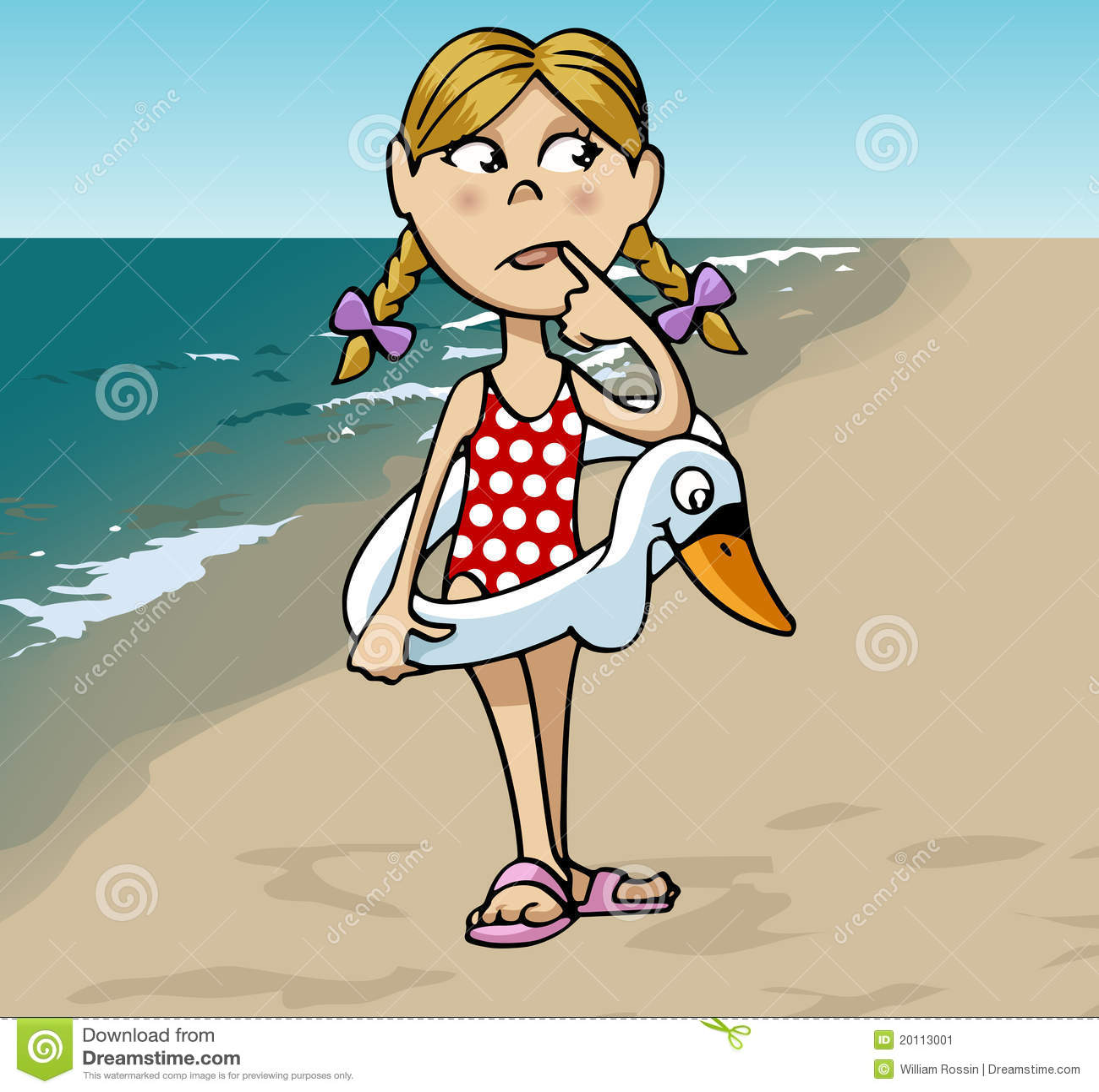 petite fille la plage illustration de vecteur illustration du pensif 20113001. Black Bedroom Furniture Sets. Home Design Ideas