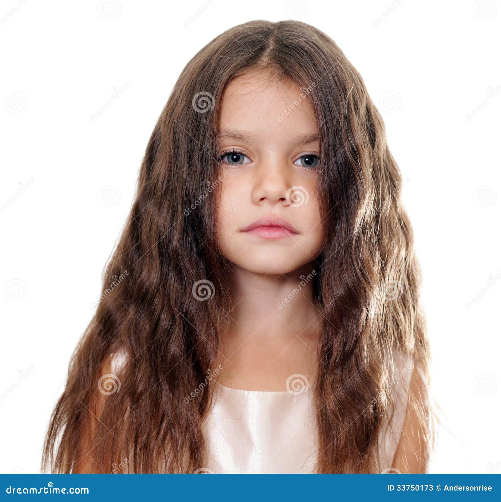 petite fille avec de beaux cheveux photos stock image 33750173. Black Bedroom Furniture Sets. Home Design Ideas